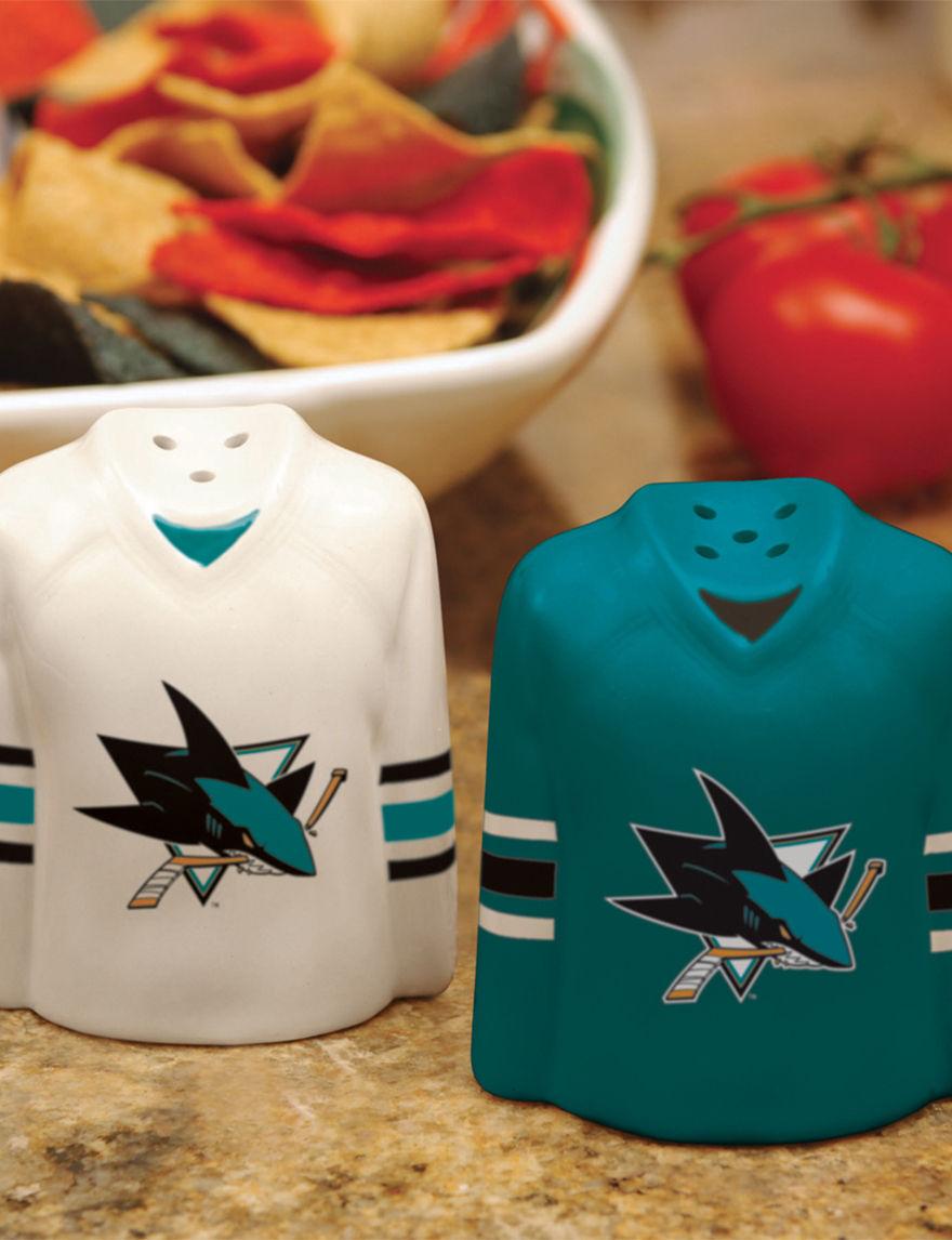 NHL Blue Salt & Pepper Shakers Serveware