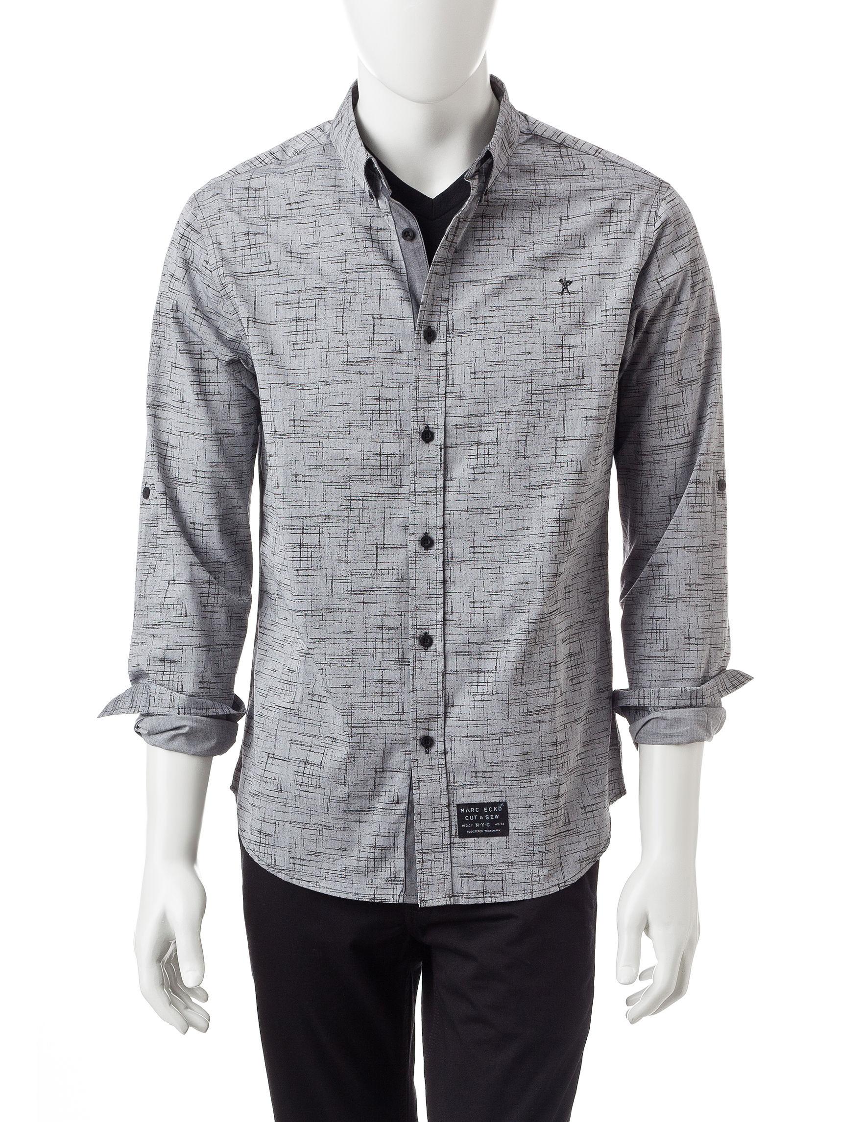Marc Ecko Black Casual Button Down Shirts