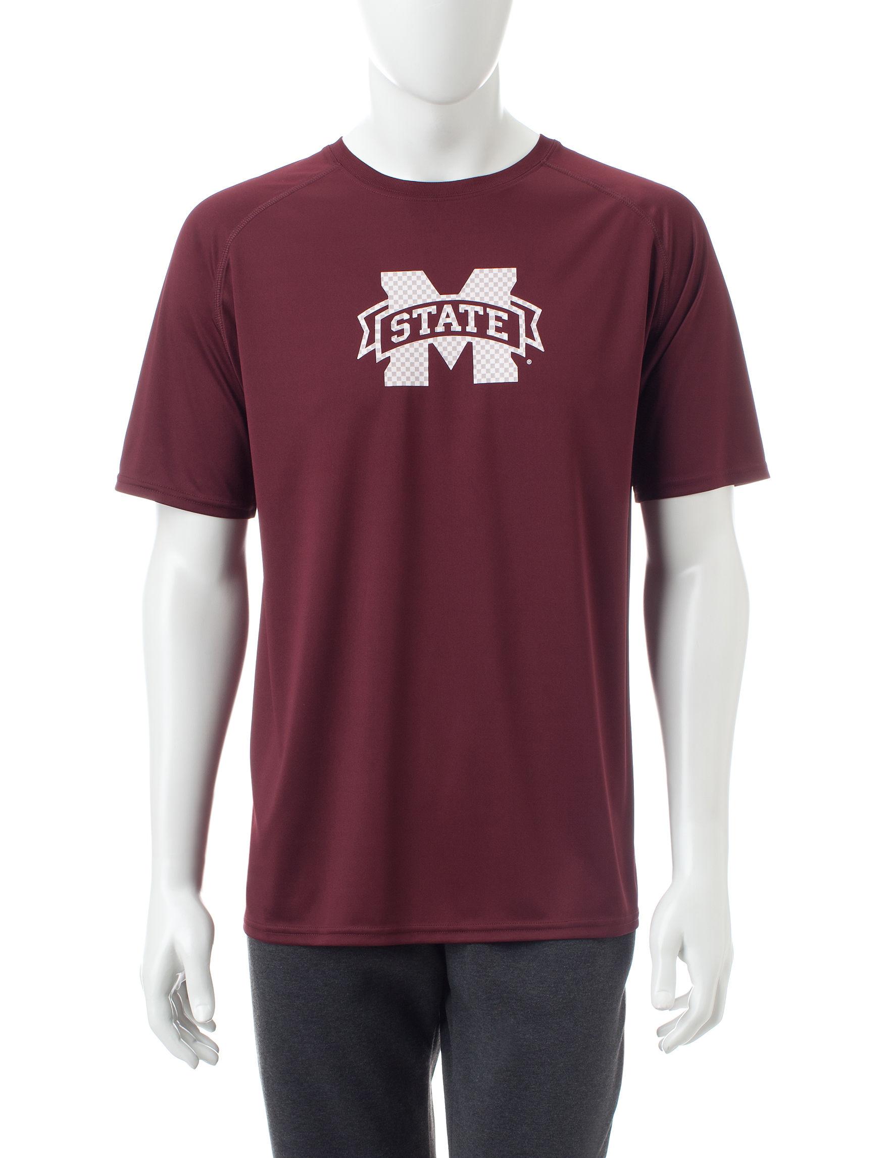 NCAA Maroon Tees & Tanks
