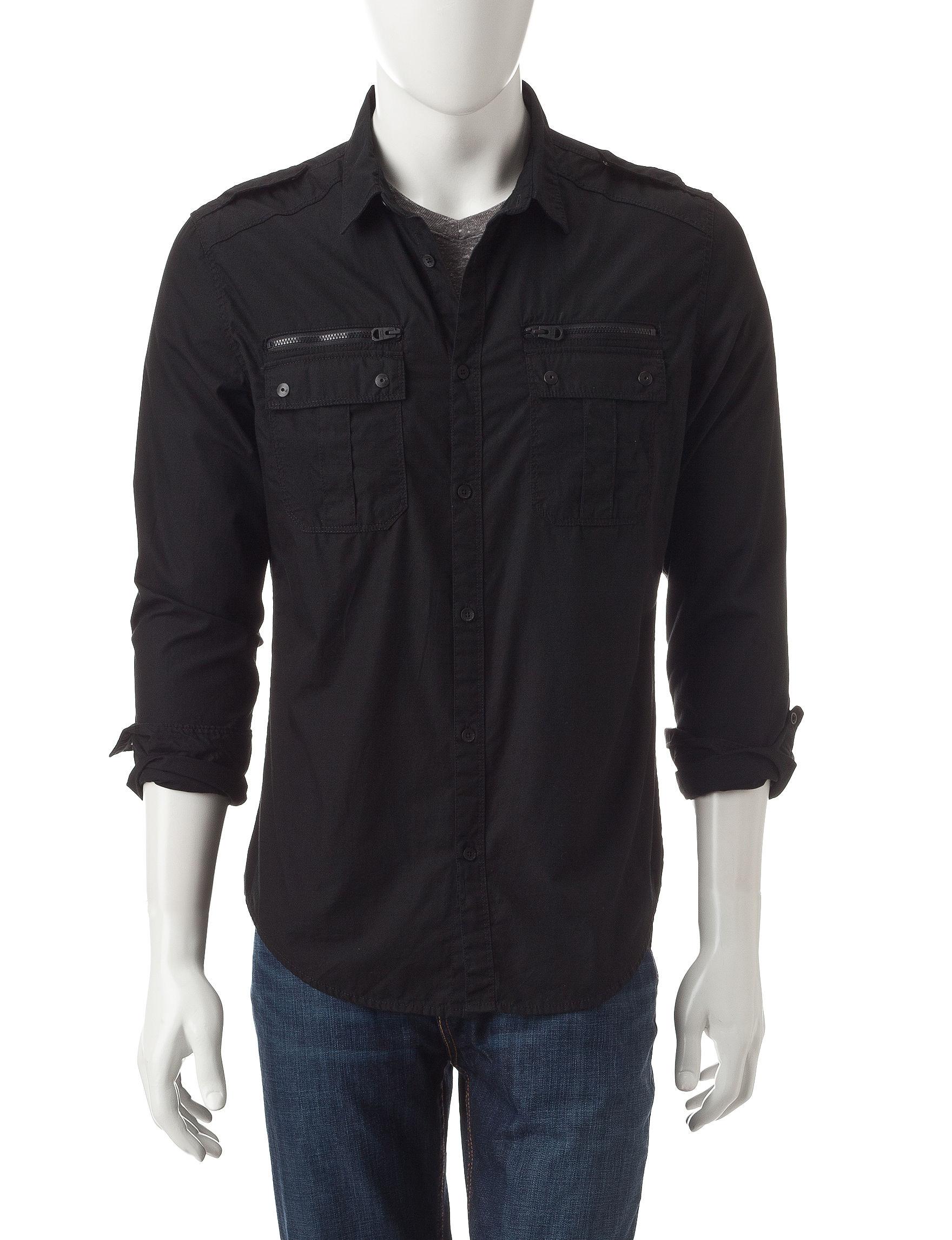 Calvin Klein Black Casual Button Down Shirts