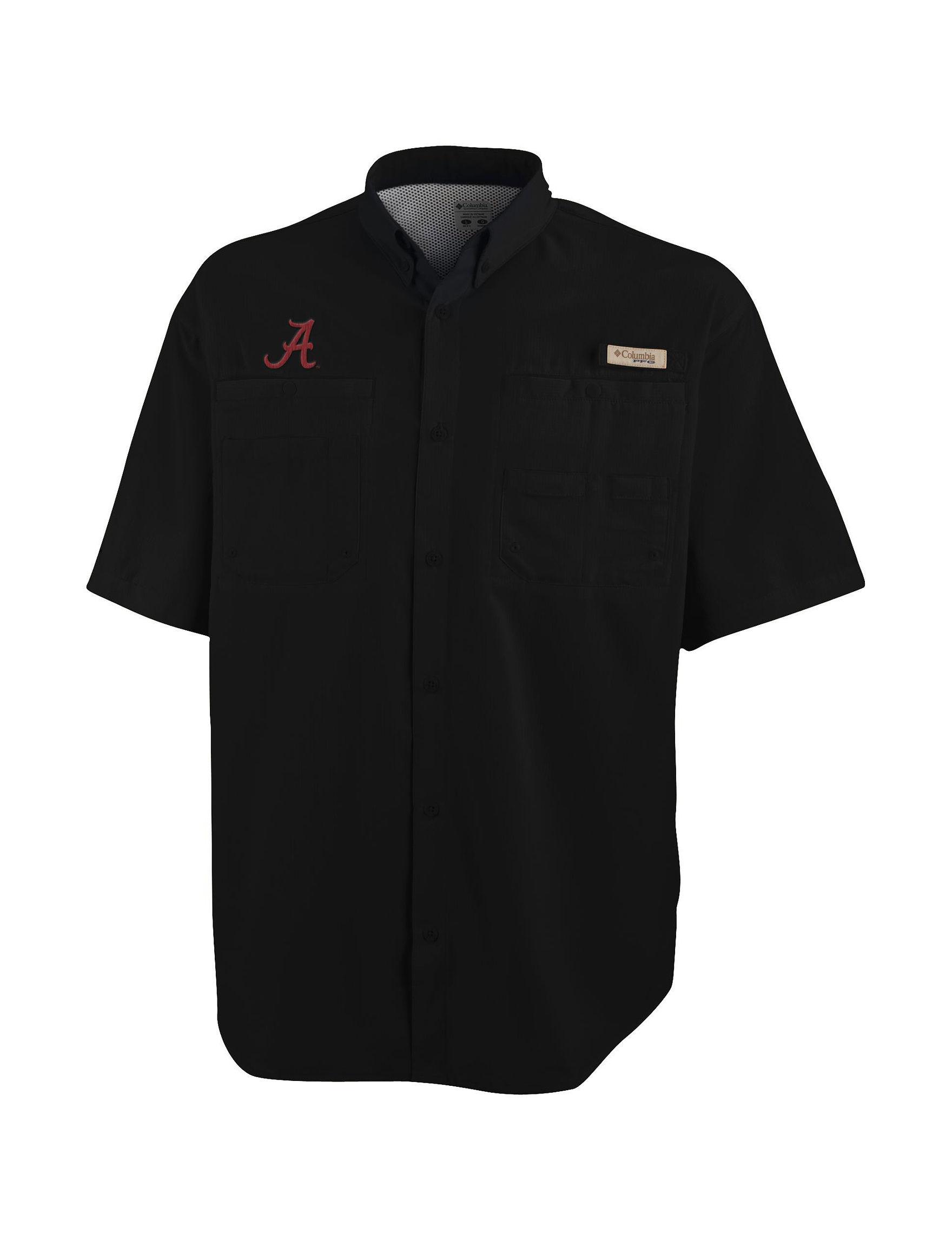 NCAA Black Casual Button Down Shirts