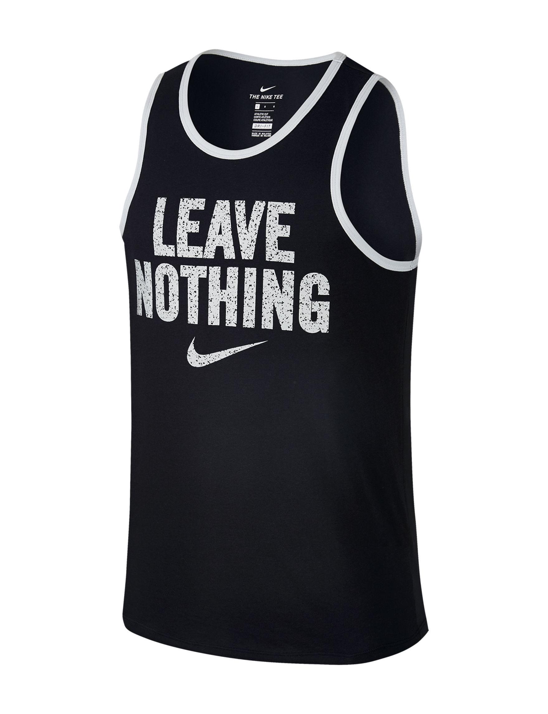 Nike Black Tees & Tanks