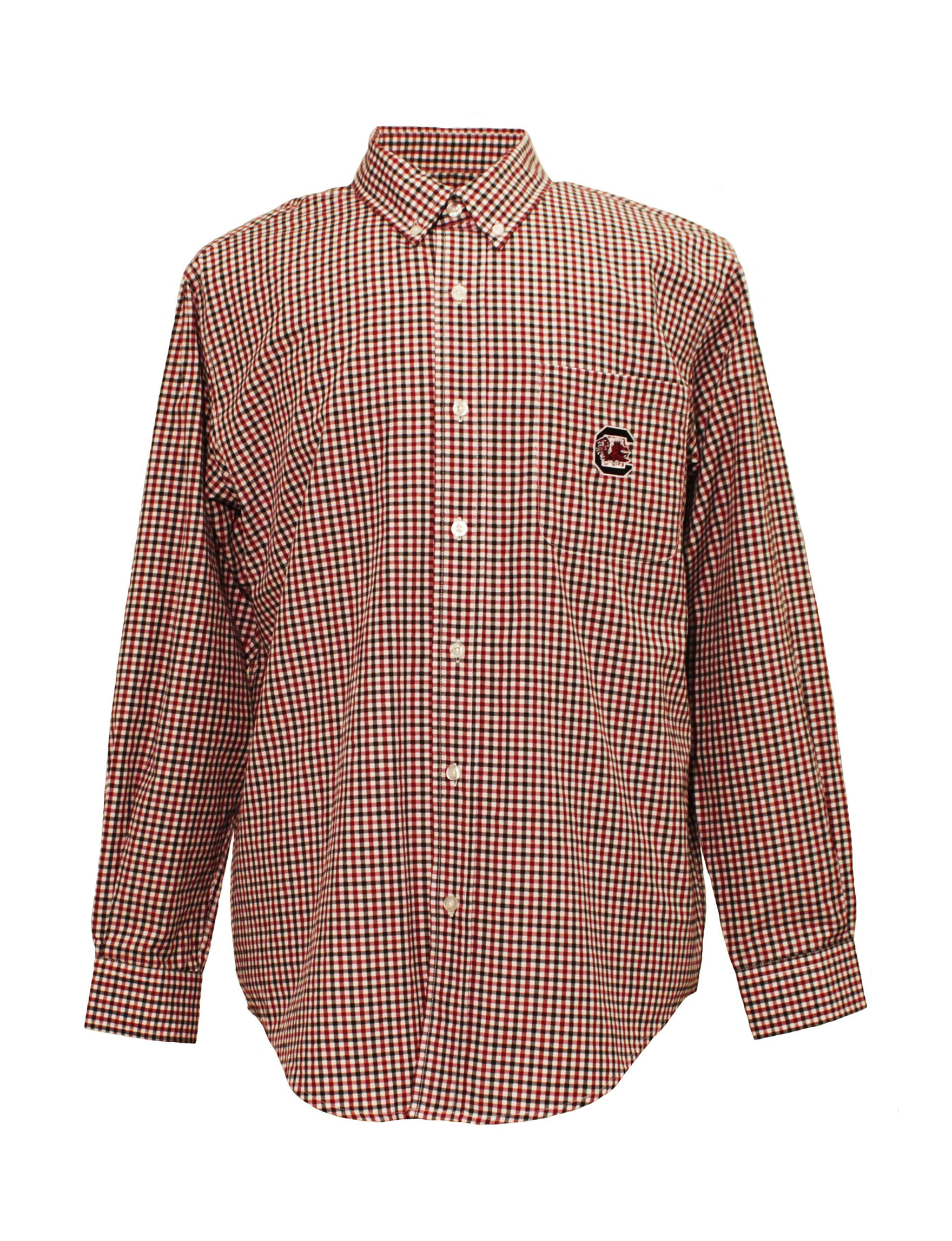 NCAA Crimson Casual Button Down Shirts