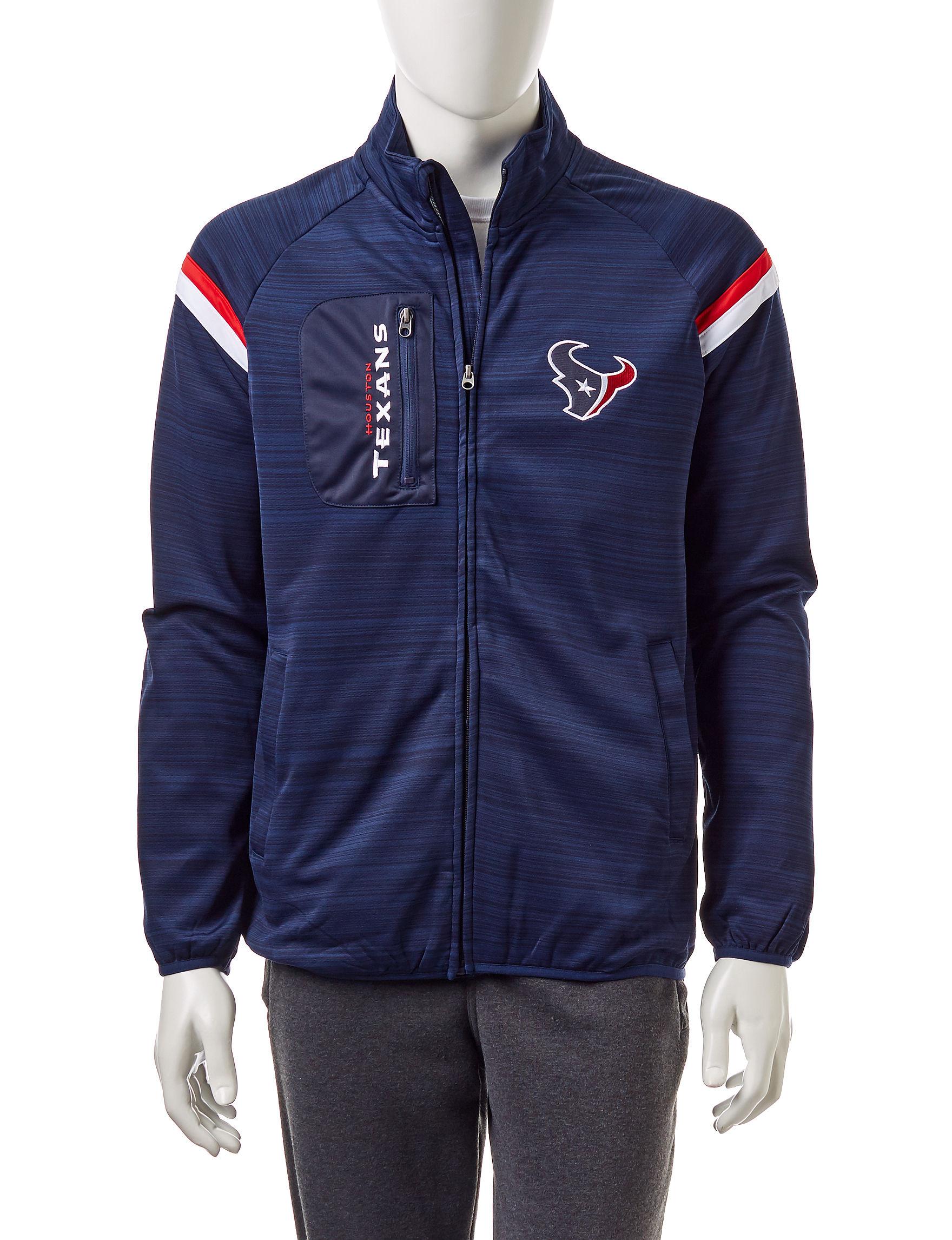 NFL Navy Zip-Ups