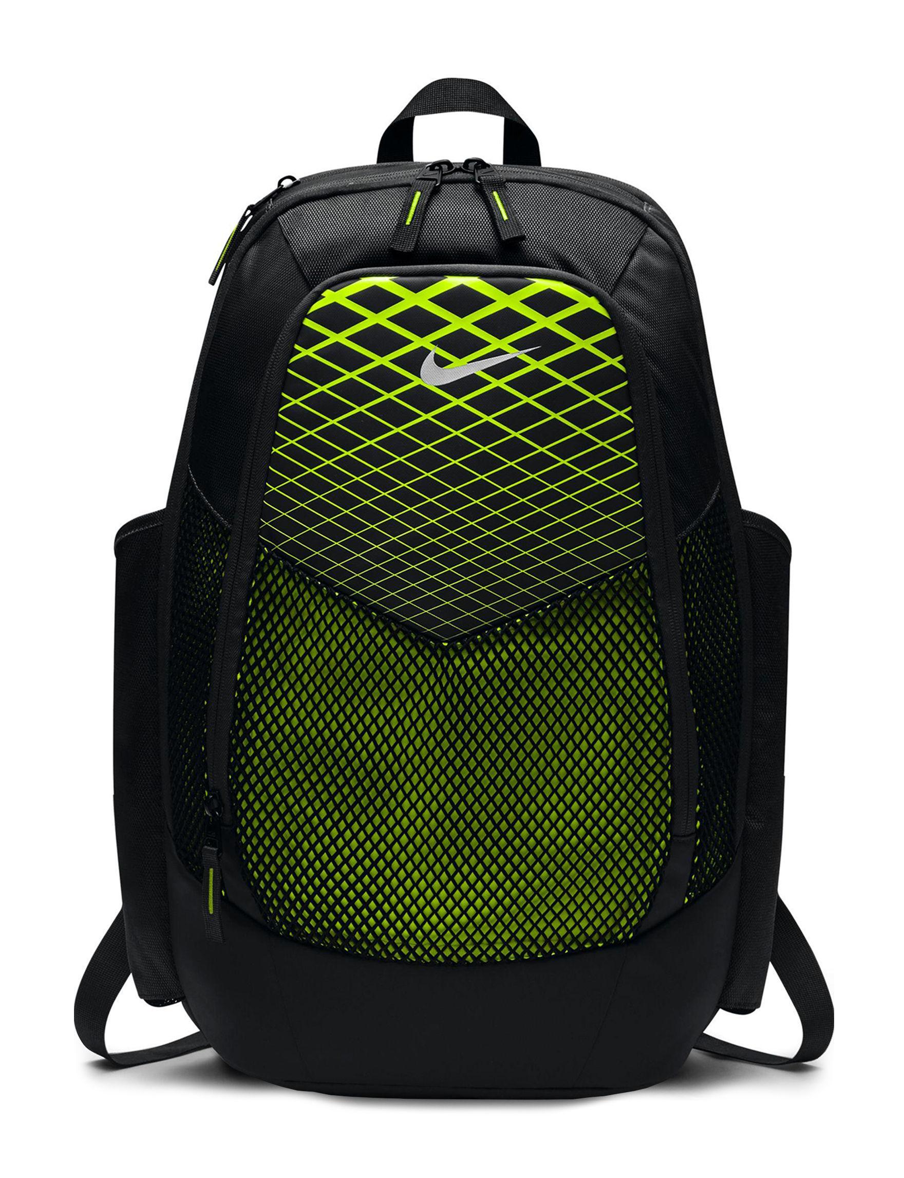 Nike Black / Lime Bookbags & Backpacks