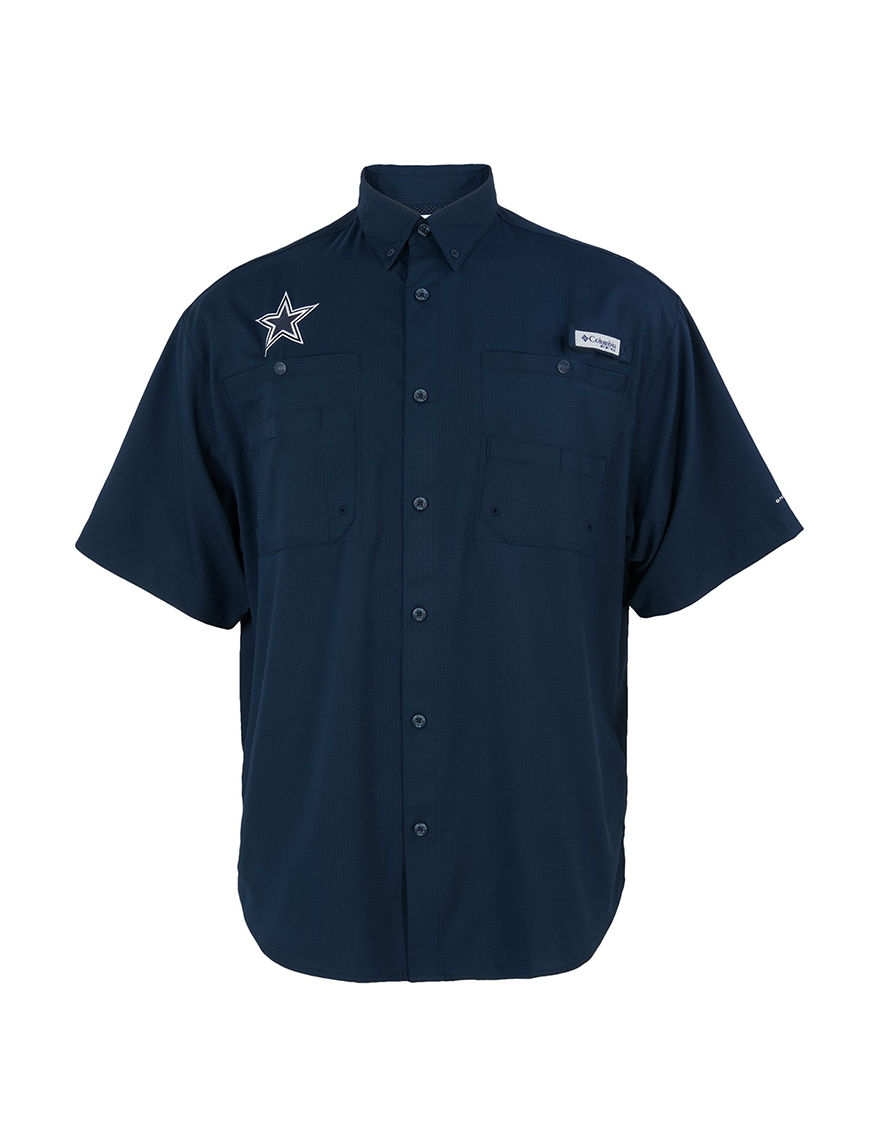 NFL Navy Casual Button Down Shirts