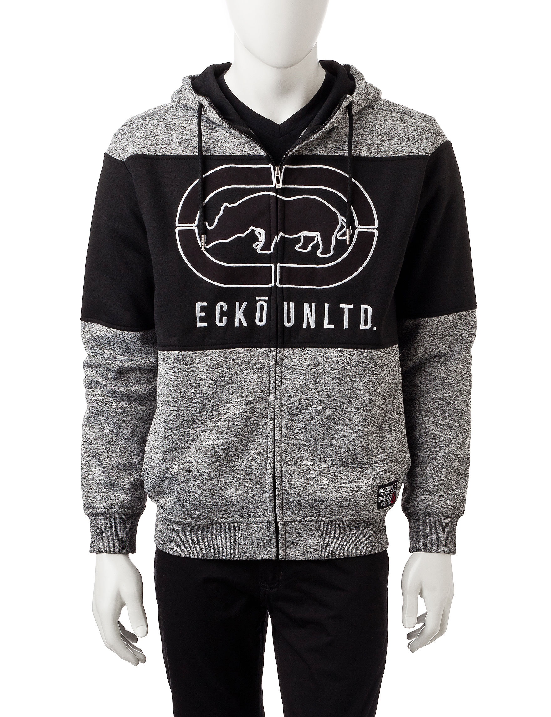 Ecko Grey Marled Pull-overs