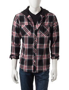 Zoo York Black Casual Button Down Shirts
