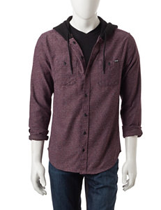 Zoo York Red Casual Button Down Shirts
