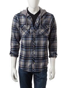 Zoo York Grey Casual Button Down Shirts