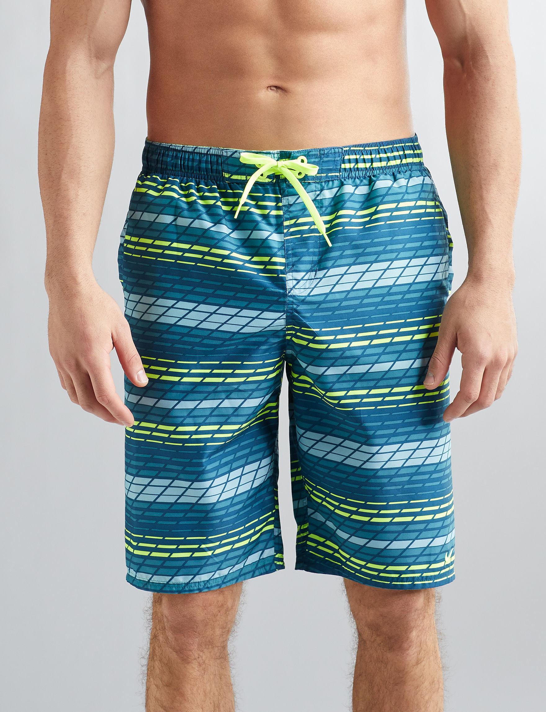 Nike Blue / Green Swimsuit Bottoms