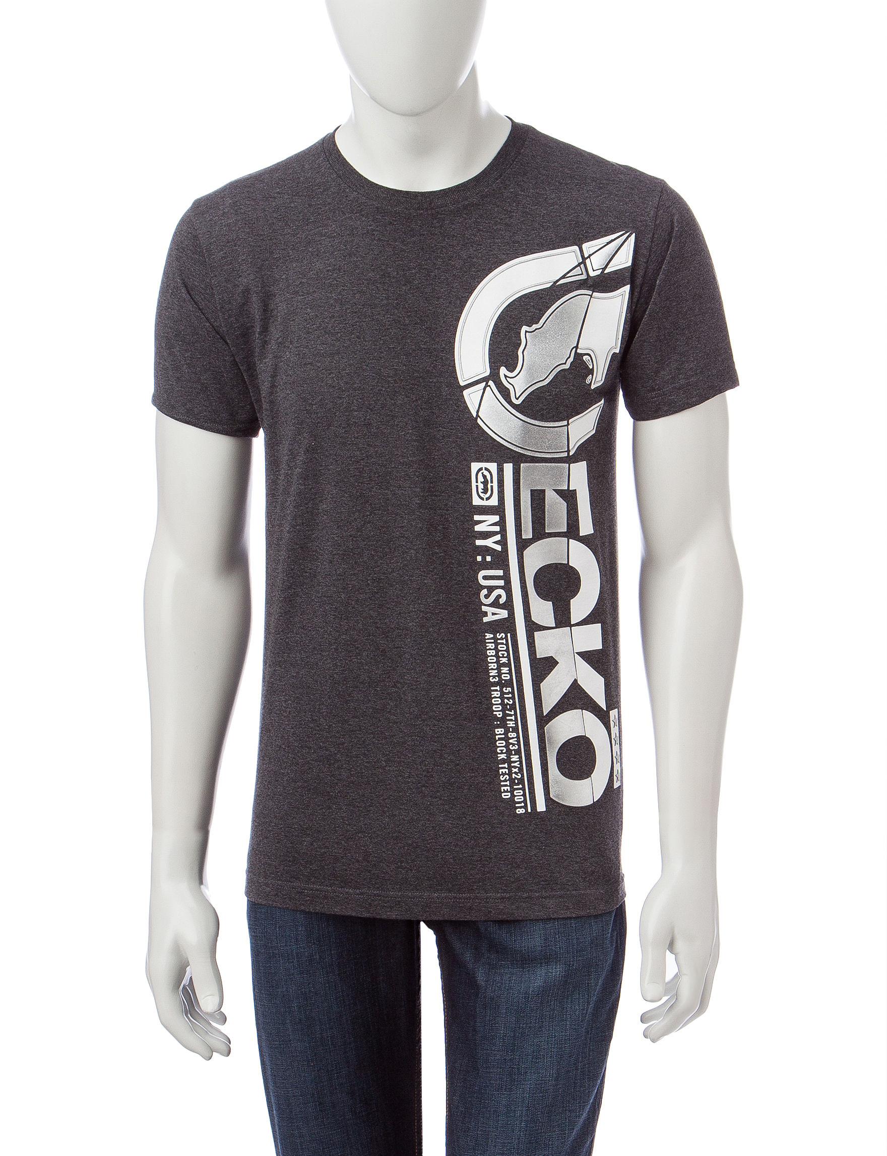 Ecko Grey Tees & Tanks