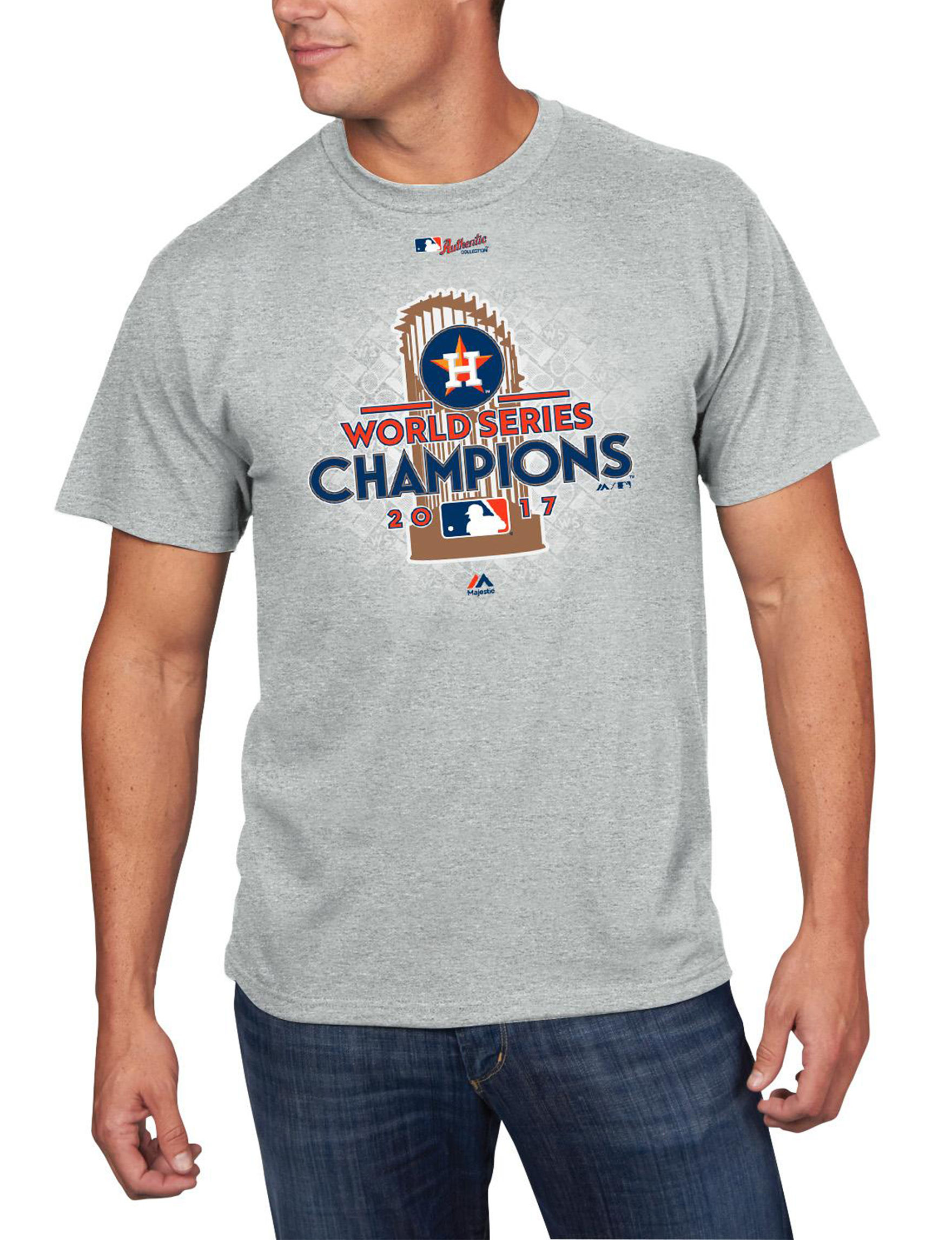 MLB Heather Grey Tees & Tanks