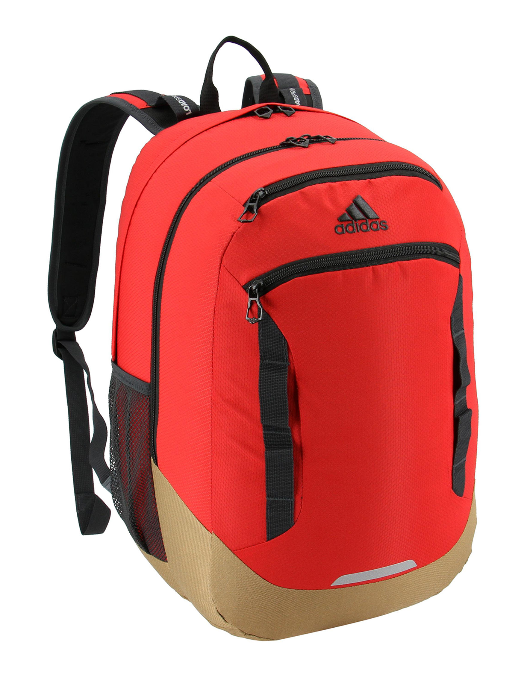 Adidas Red / Khaki Bookbags & Backpacks