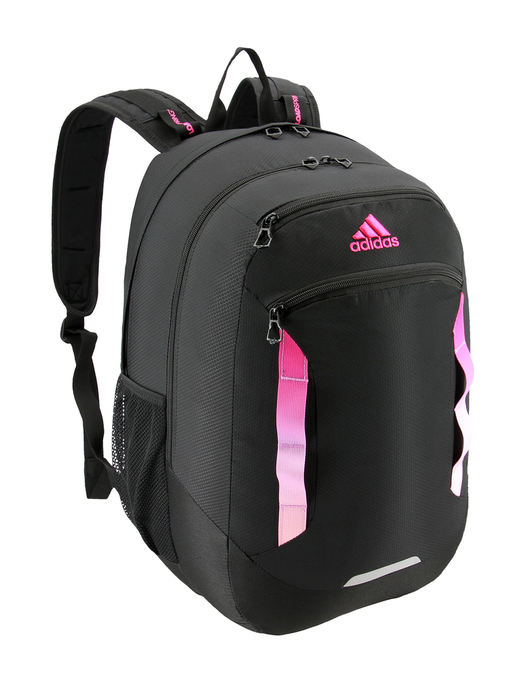 Adidas Black / Pink Bookbags & Backpacks
