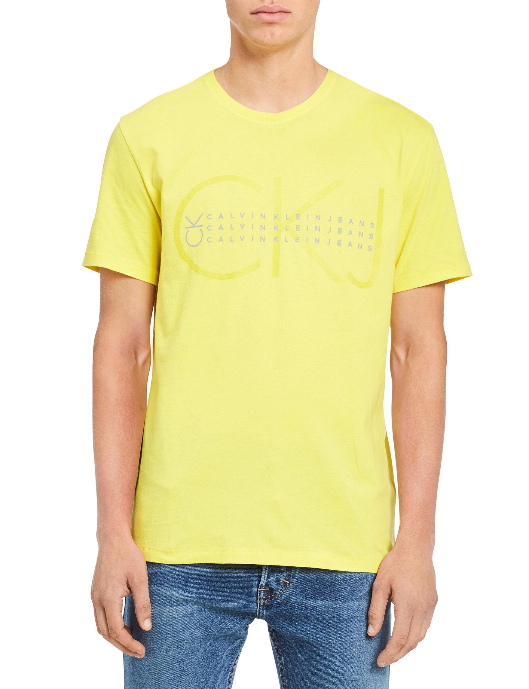 Calvin Klein Yellow Tees & Tanks