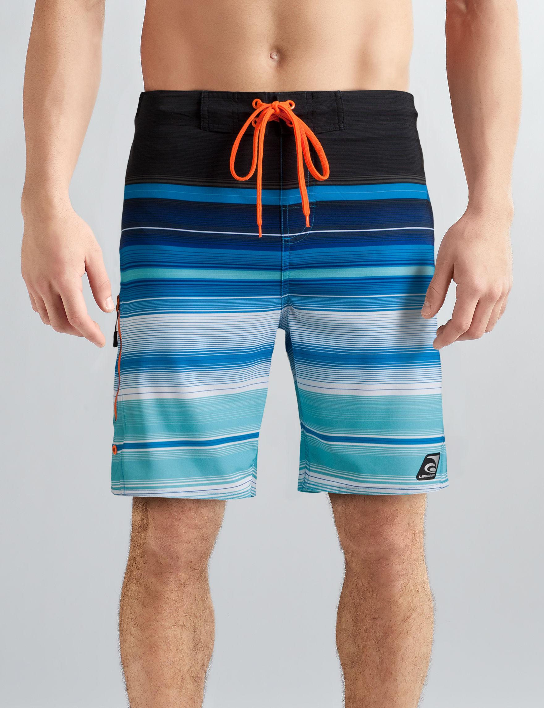 Laguna Blue Stripe Swimsuit Bottoms