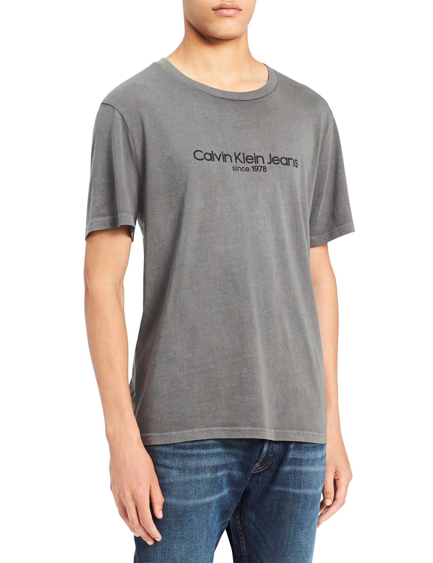 Calvin Klein Dark Grey Tees & Tanks