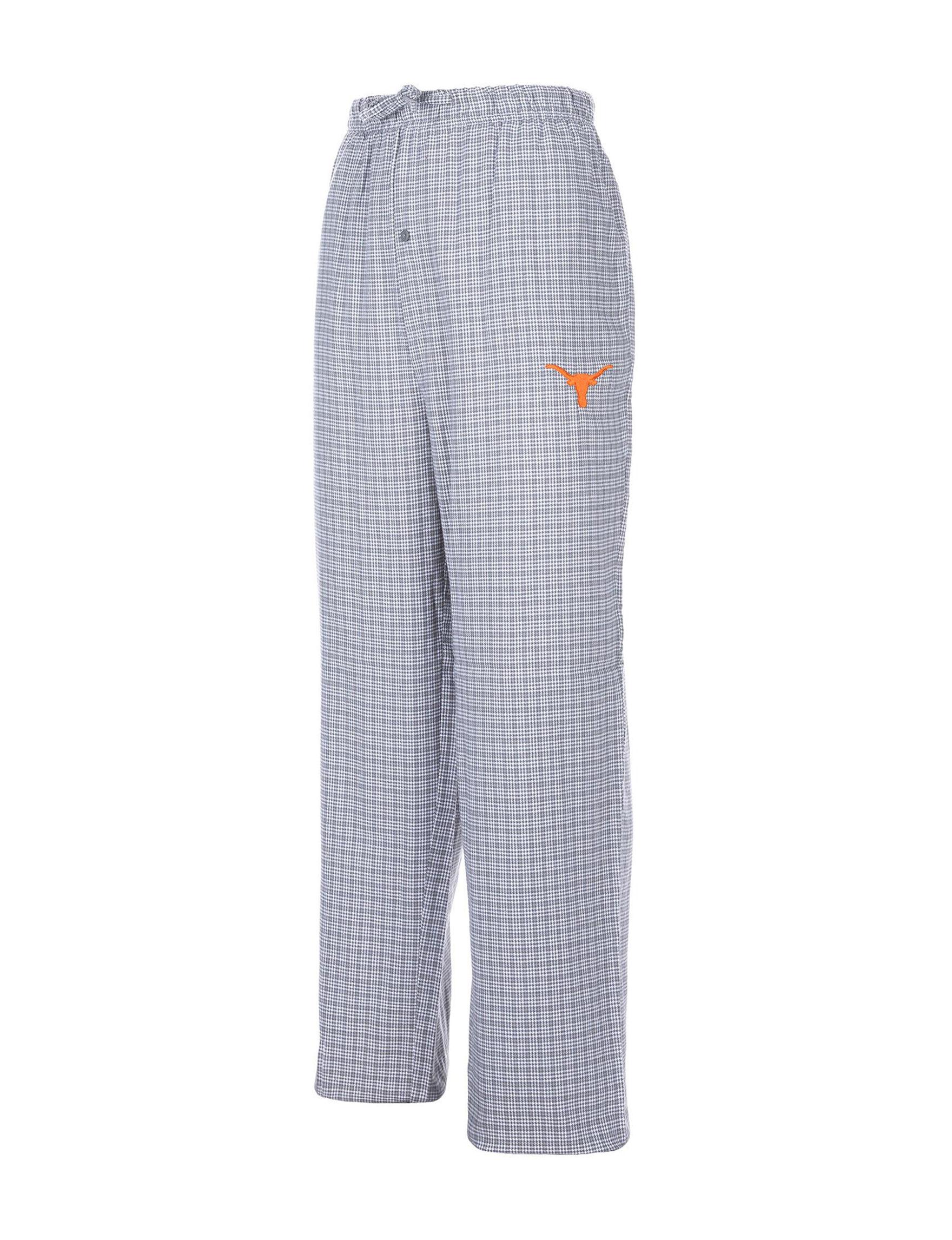 NCAA White / Black Pajama Bottoms