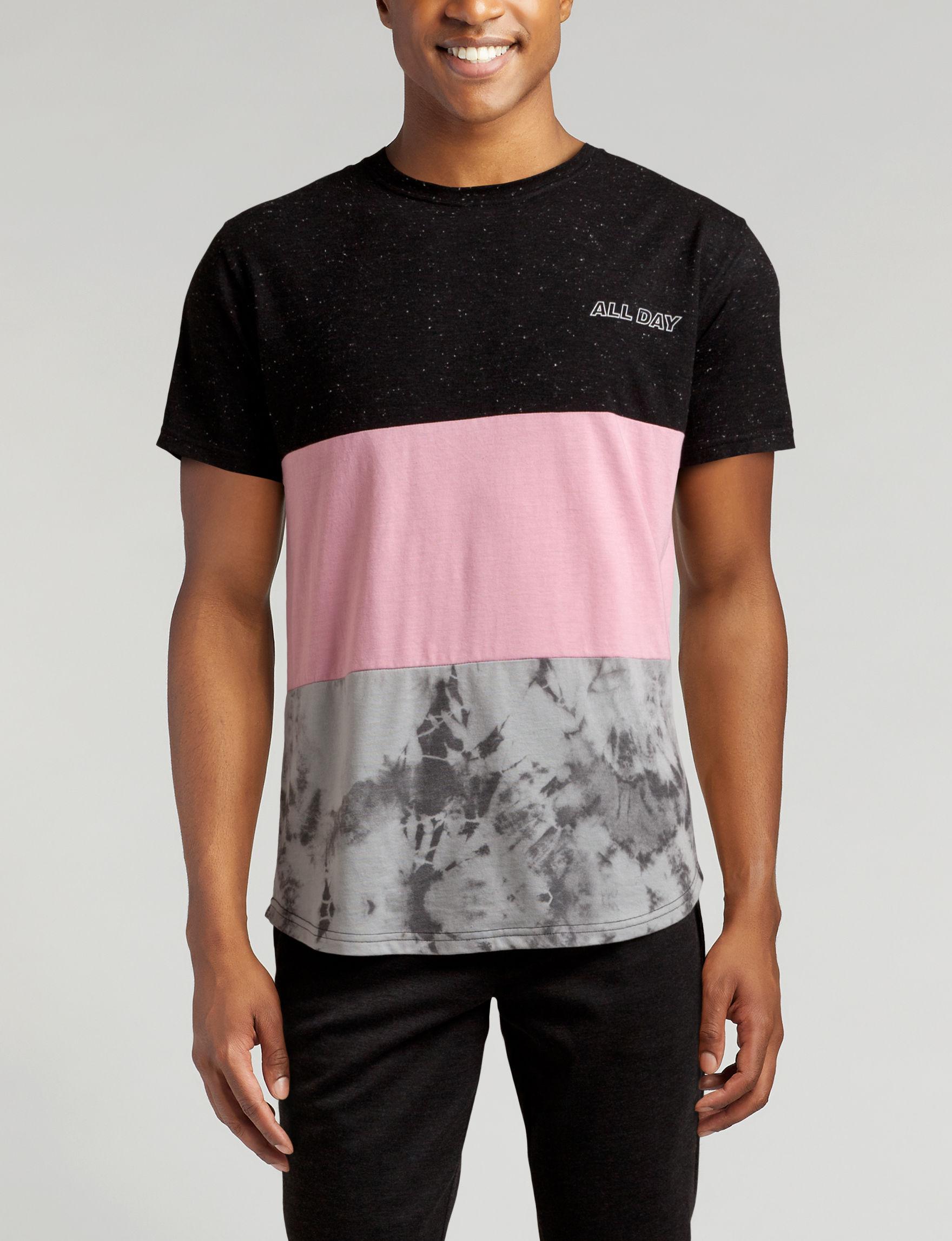 Vibes Black / Pink Tees & Tanks