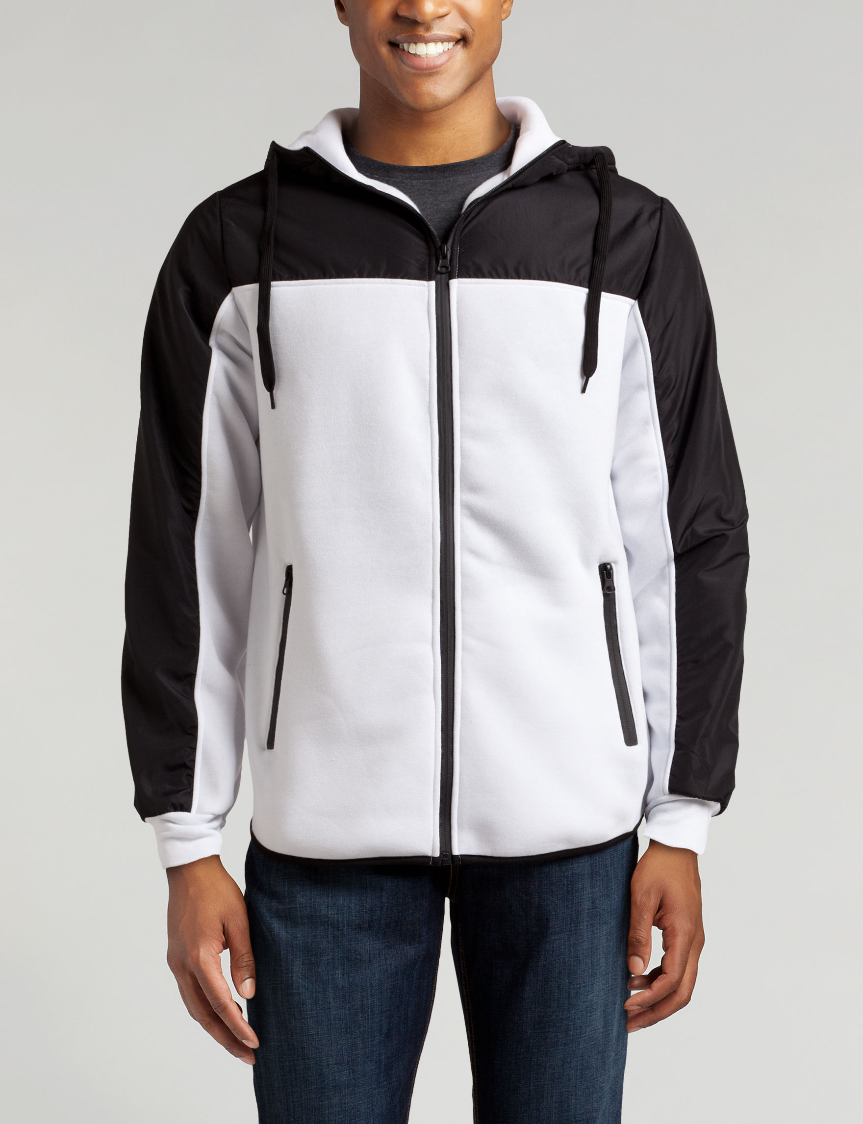 Point Zero White / Black Zip-Ups