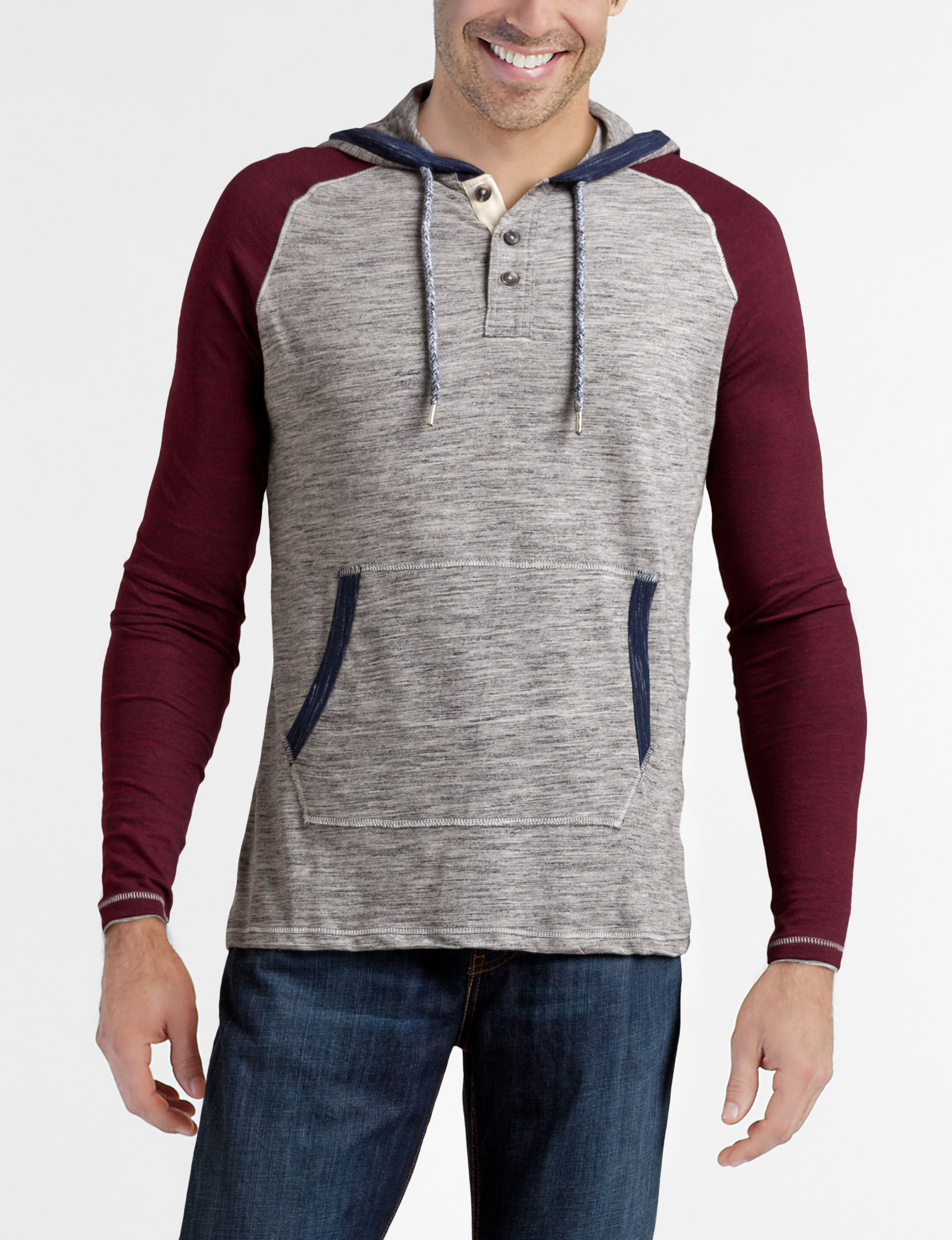 Rustic Blue Burgundy/Grey Pull-overs