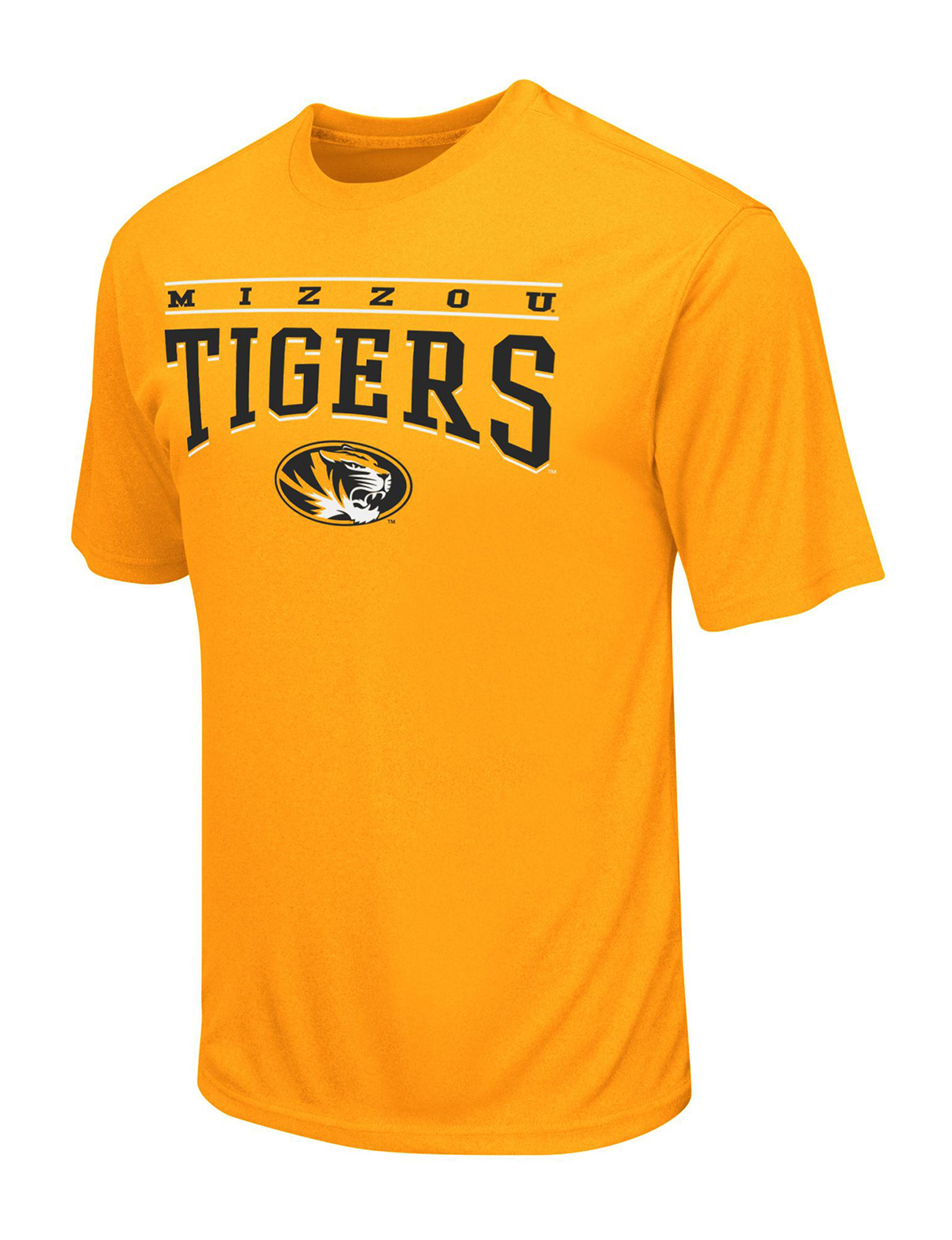 NCAA Medium Yellow Tees & Tanks