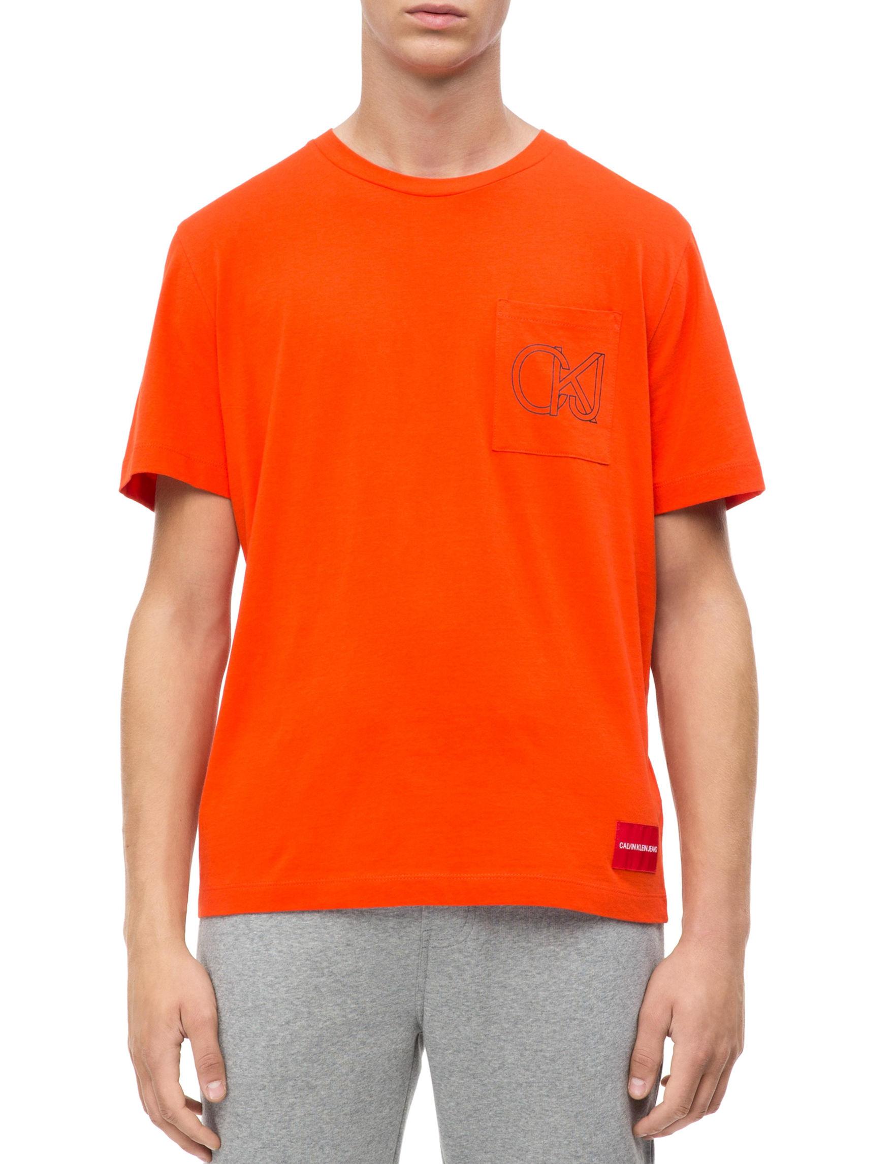 Calvin Klein Neon Orange Tees & Tanks
