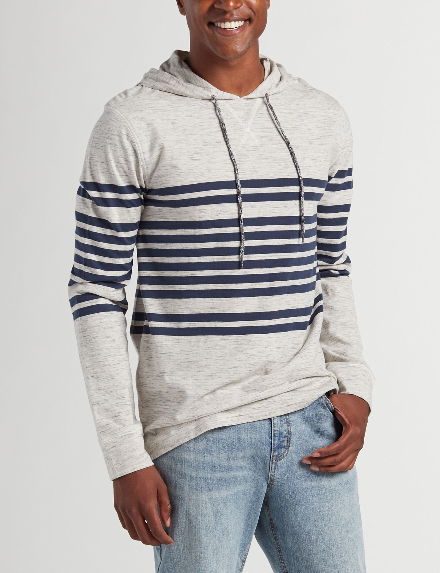 Rustic Blue White / Heather Grey Pull-overs
