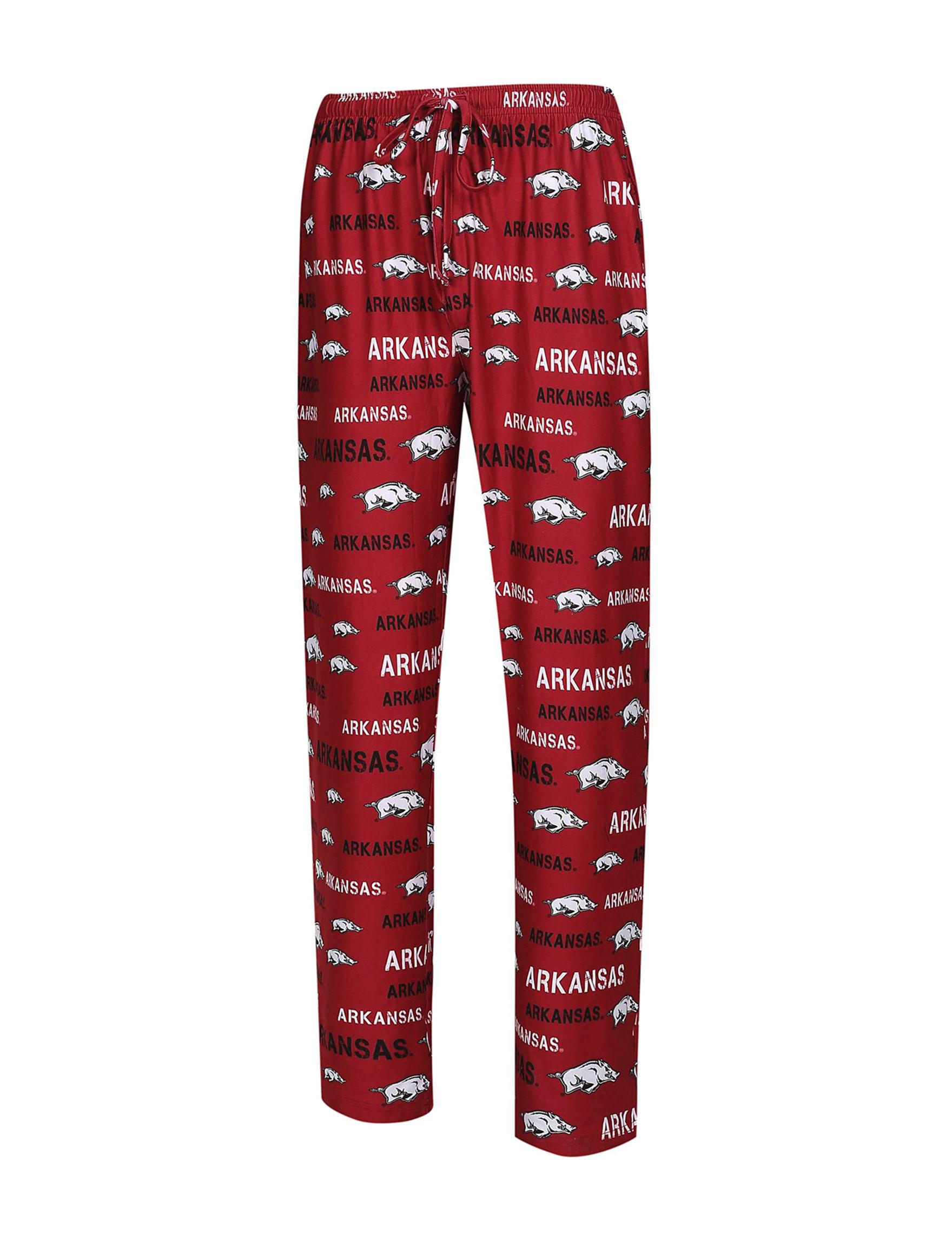 NCAA Red / White Pajama Bottoms