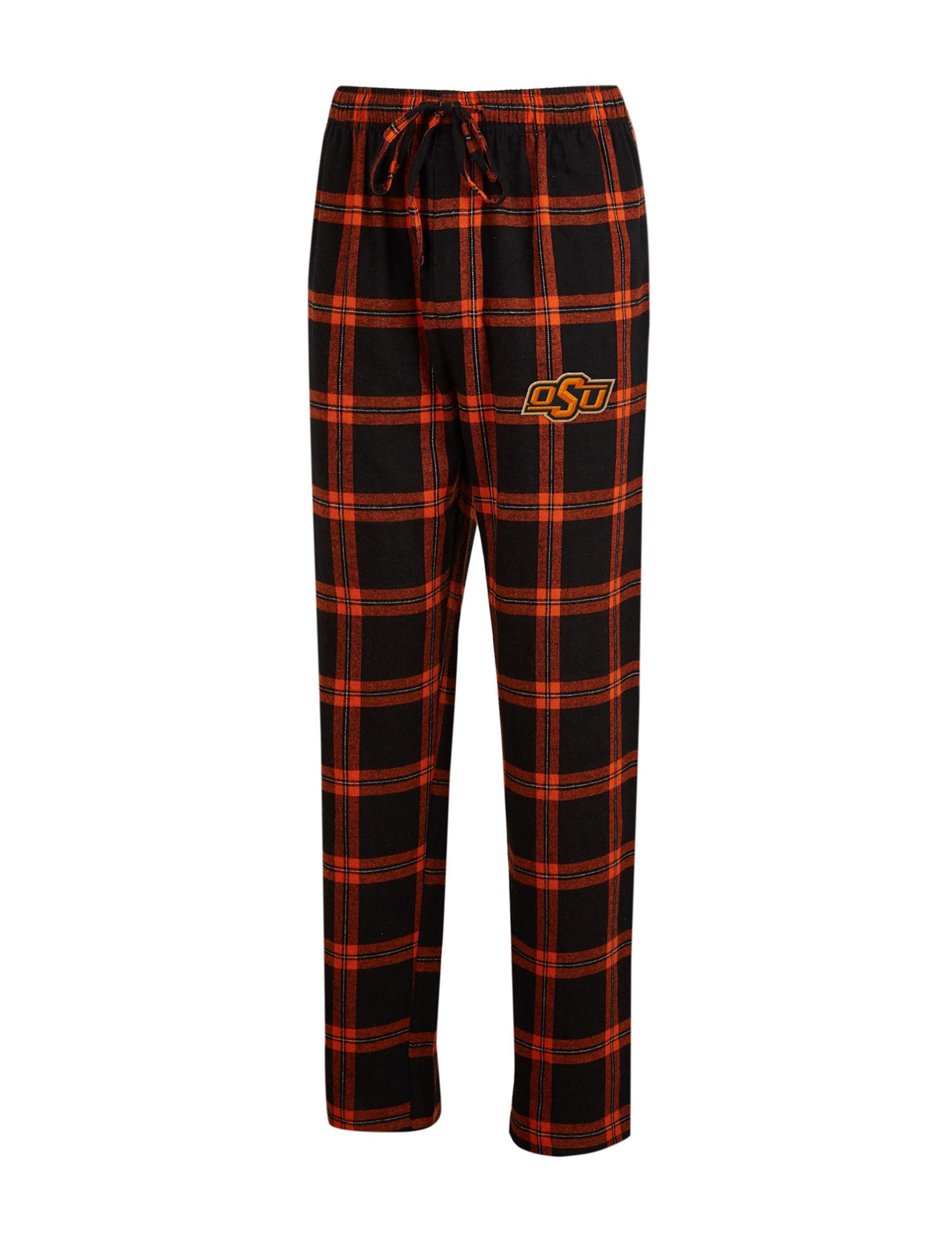 NCAA Black / Orange Pajama Bottoms