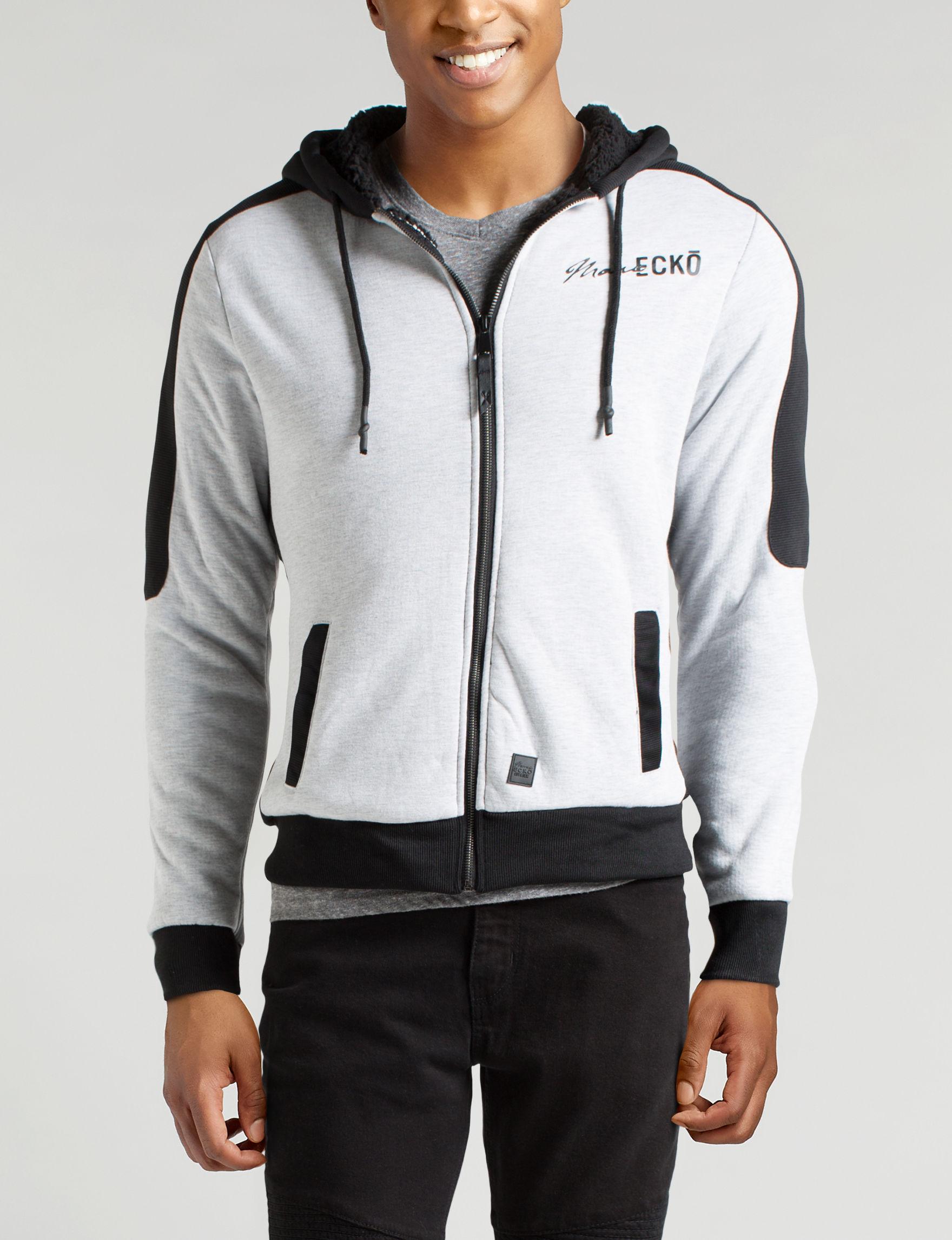 Marc Ecko White / Black Lightweight Jackets & Blazers