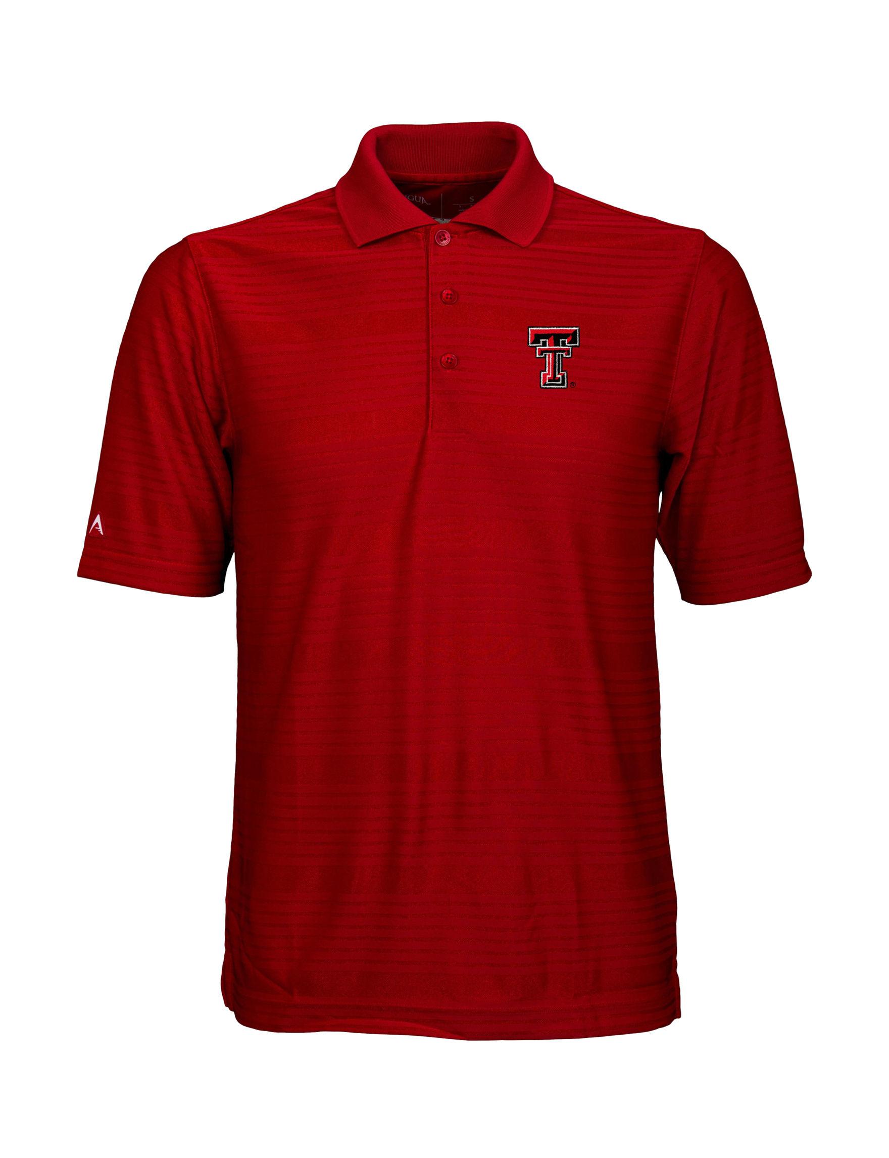 NCAA Dark Red Polos