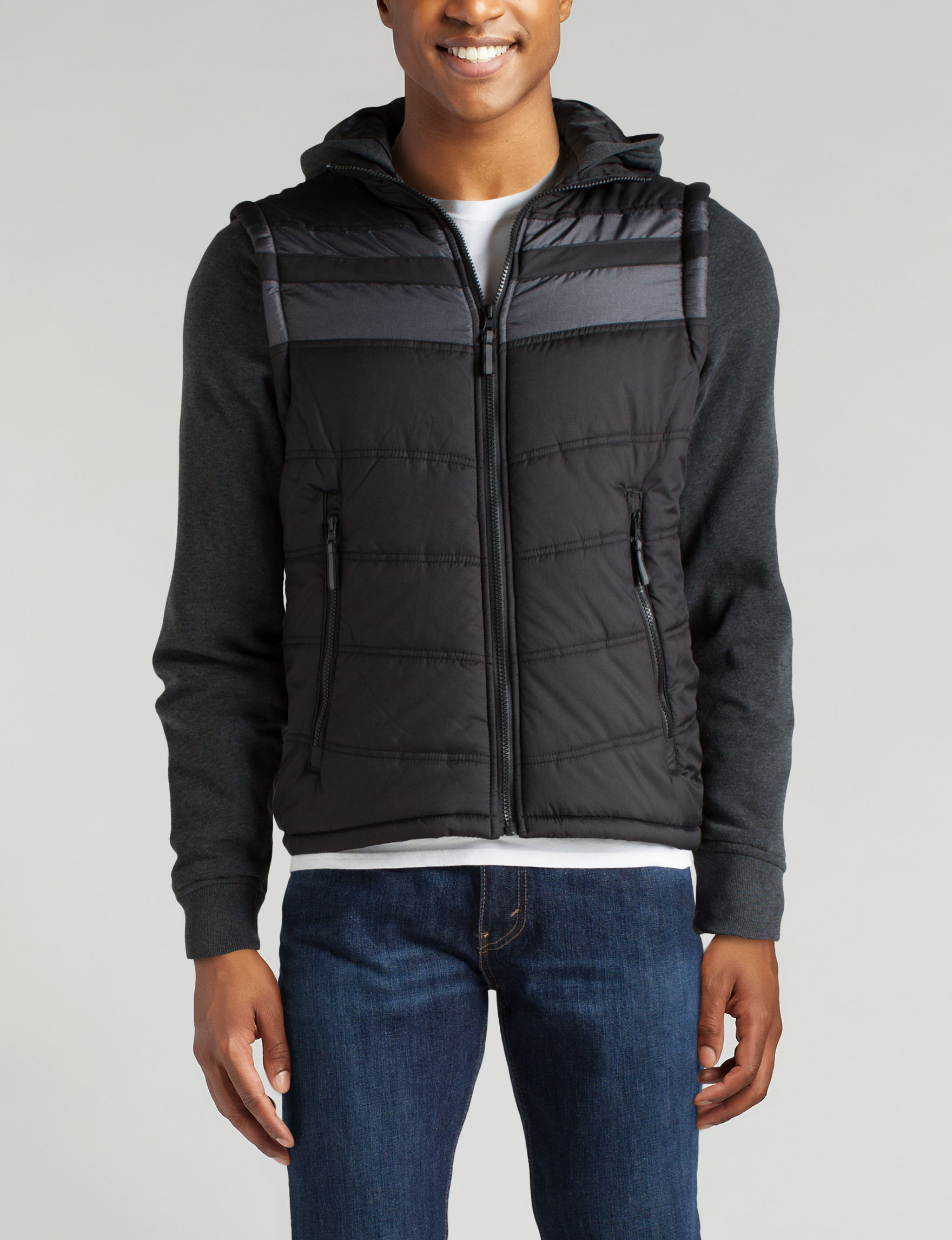 Point Zero Black Puffer & Quilted Jackets