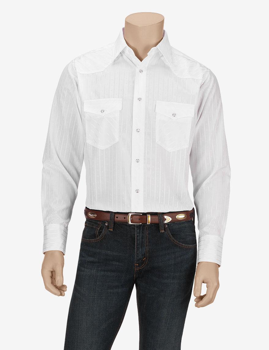 Wrangler White Casual Button Down Shirts