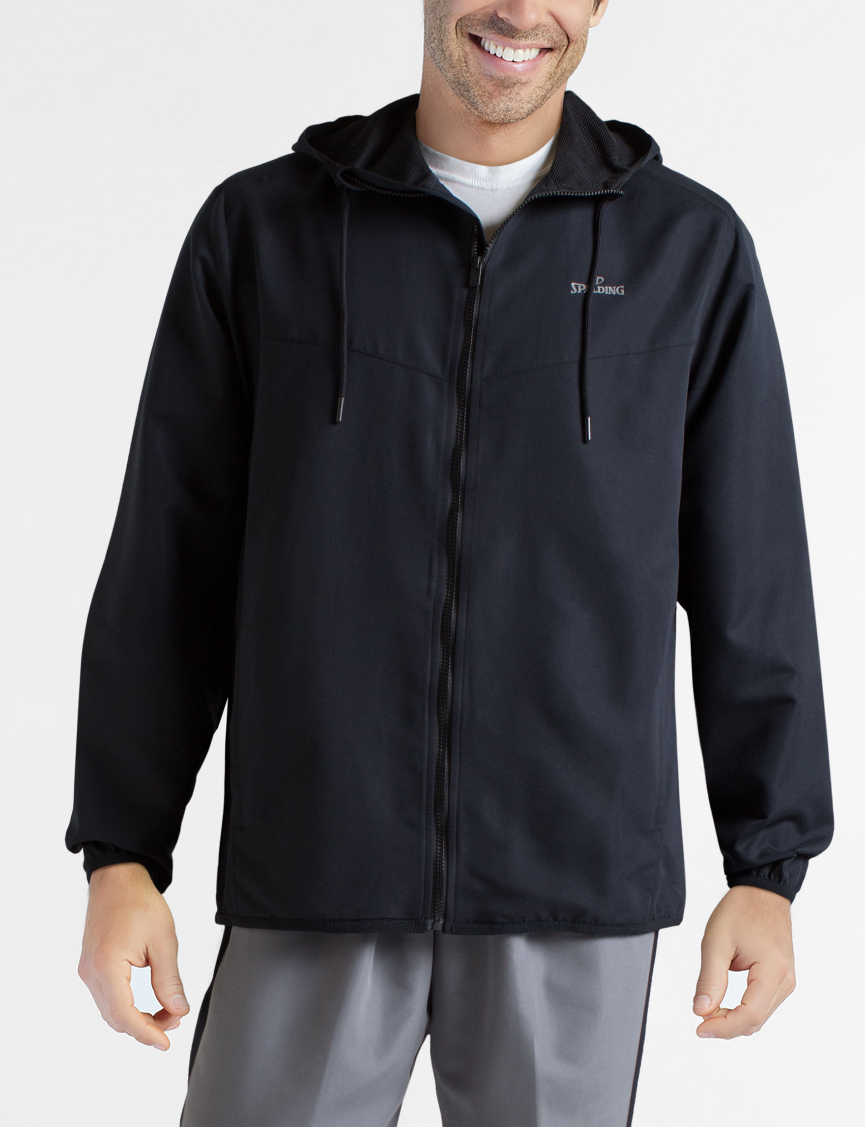 Spalding Black Zip-Ups