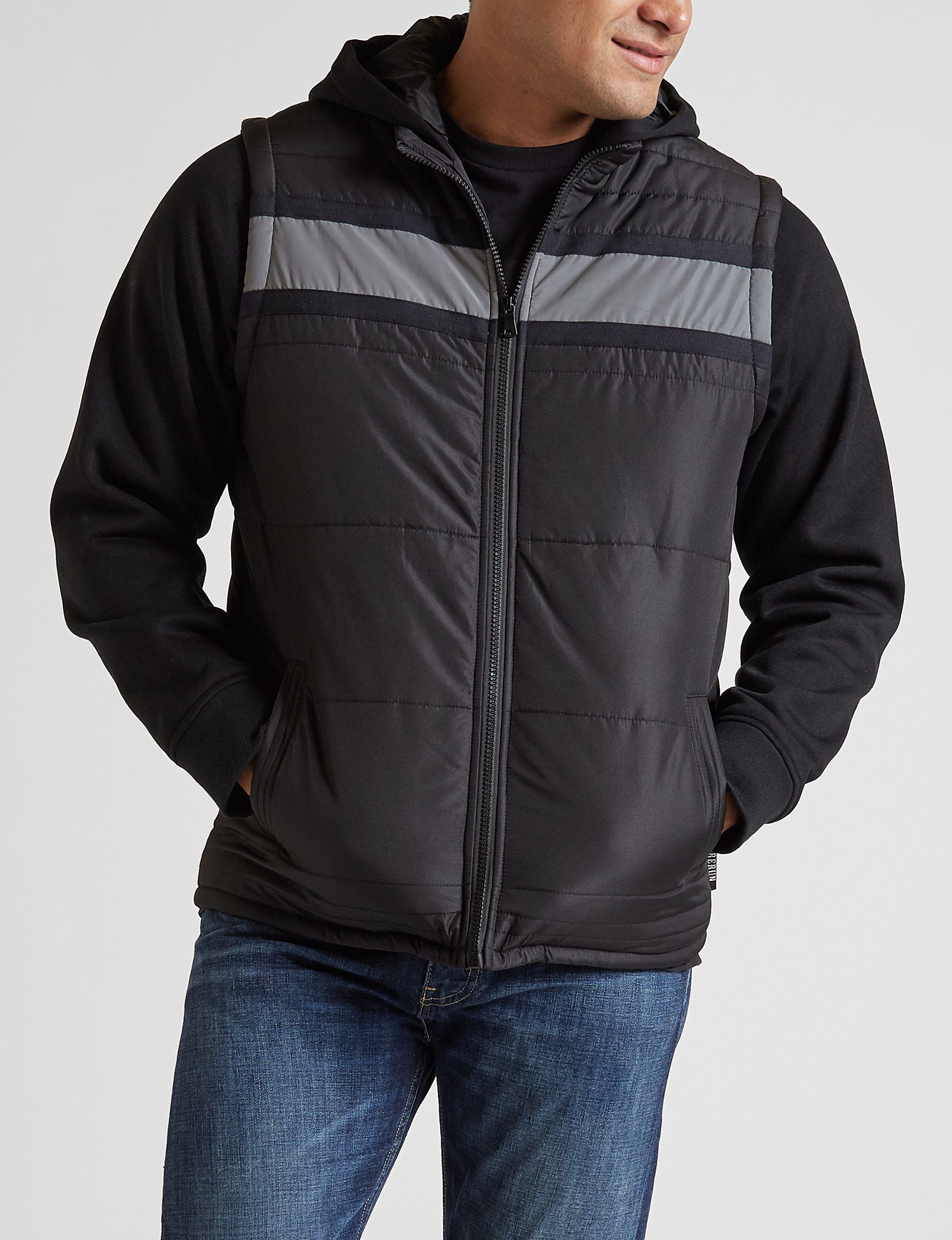 Surplus Black Puffer & Quilted Jackets
