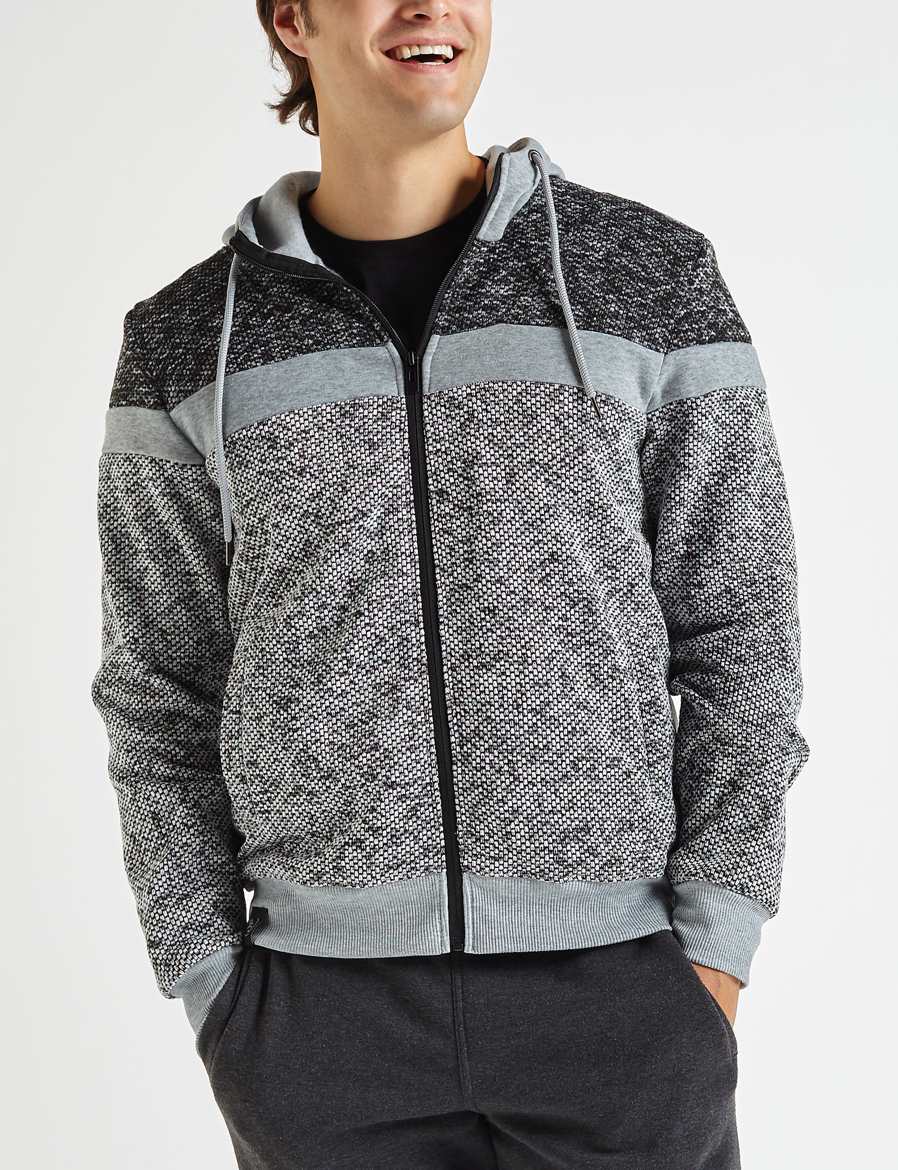 Brooklyn Standard Grey Multi Zip-Ups