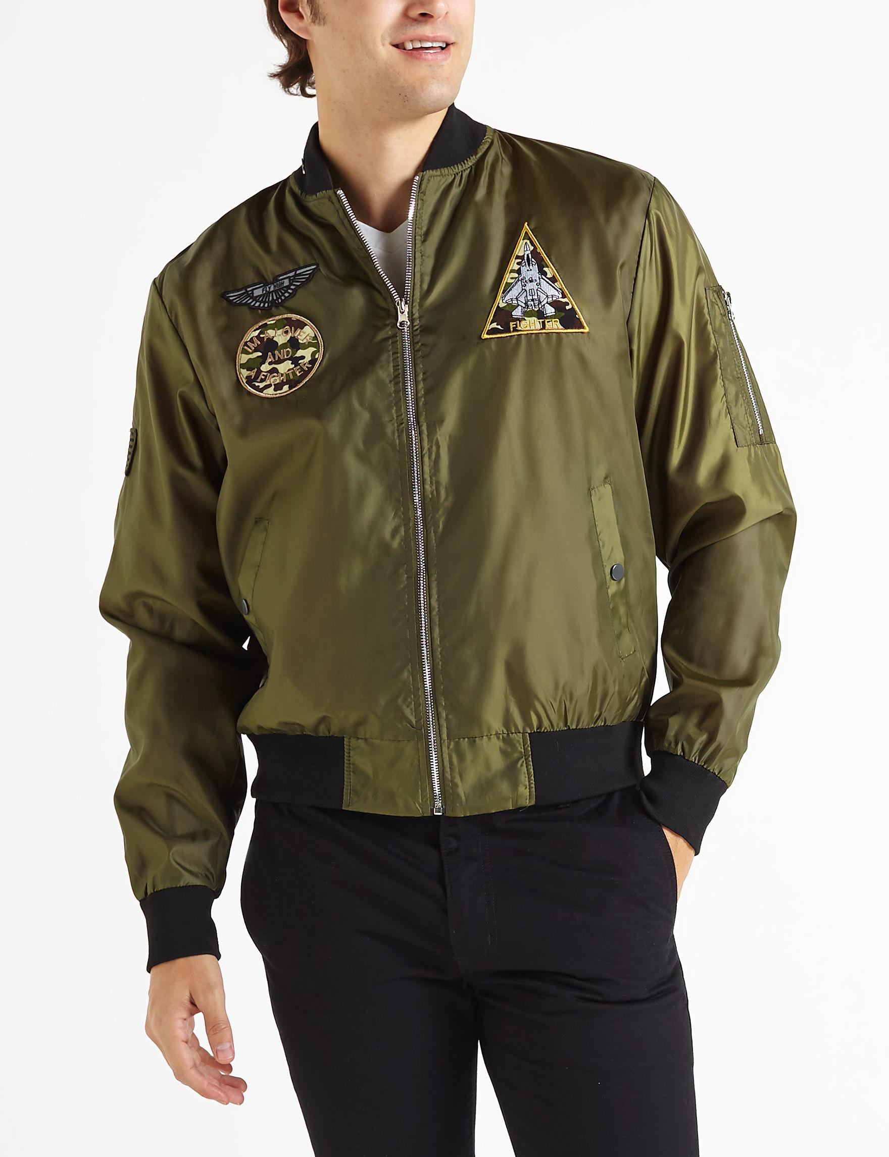 Brooklyn Standard Olive Bomber & Moto Jackets