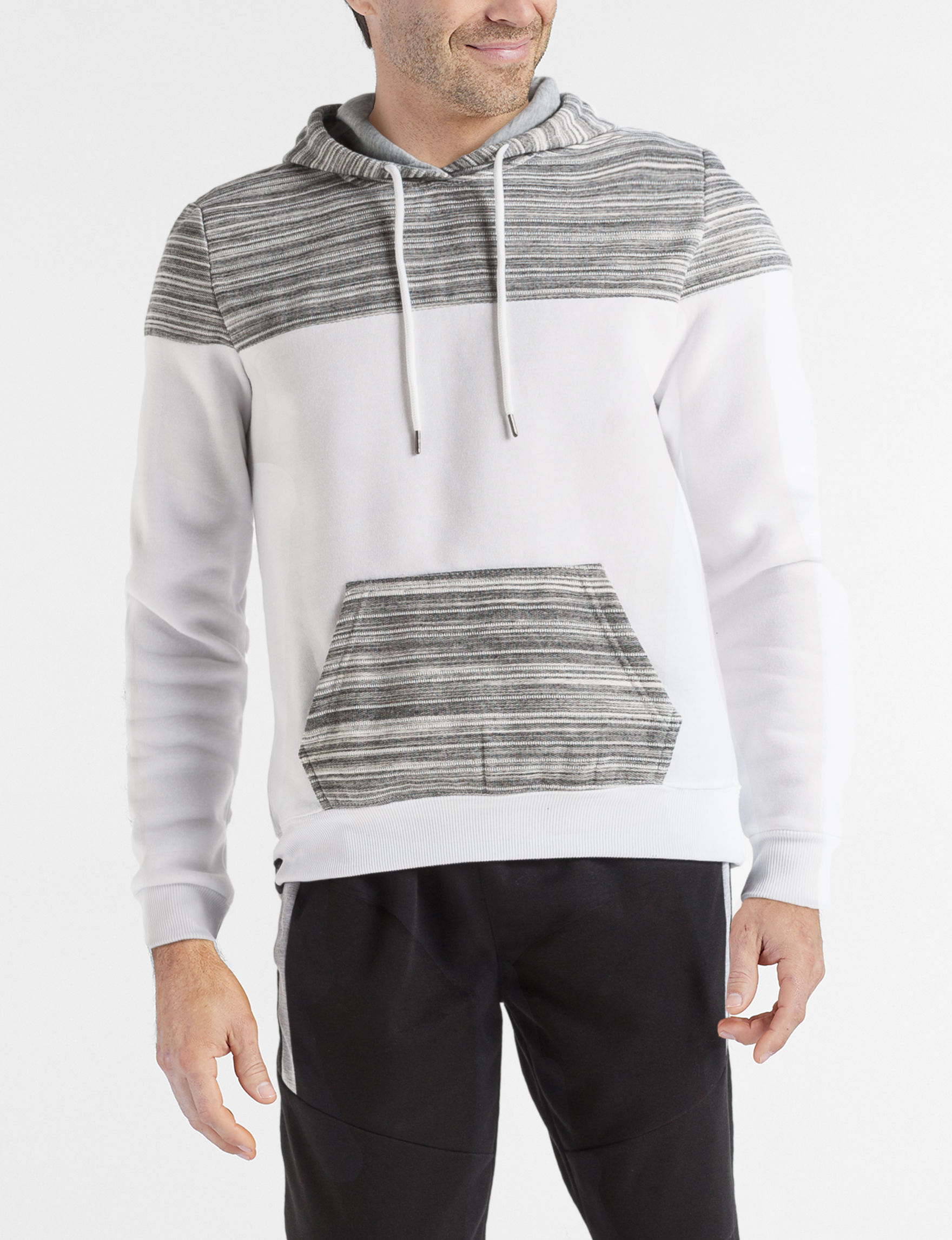 Brooklyn Standard White / Grey Pull-overs Zip-Ups