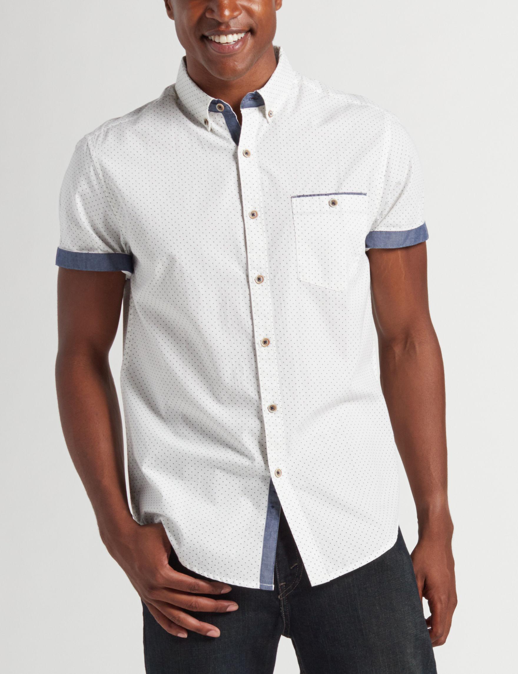 Cactus Man Men S Dot Contrast Trim Woven Shirt