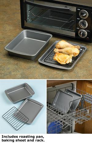 Toaster Oven Bakeware 3 Pc Set Cooking And Baking