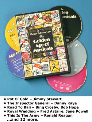 The Golden Age of Musicals - 5-DVD Set - Video - Family Fun - Starcrest