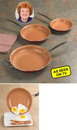 Red Copper Nonstick Fry Pan Cooking And Baking Kitchen