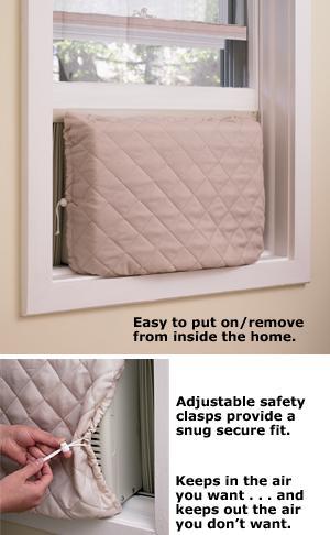 Twin Draft Guard Indoor Air Conditioner Cover Indoor