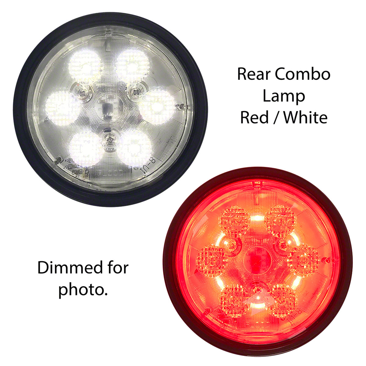 ABC3875 12 Volt LED Rear Combo Lamp, Red/White