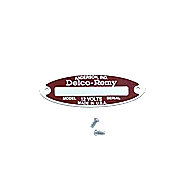 ABC514 - Blank Starter / Generator Tag For 12-V Delco Remy  With 2 Rivets