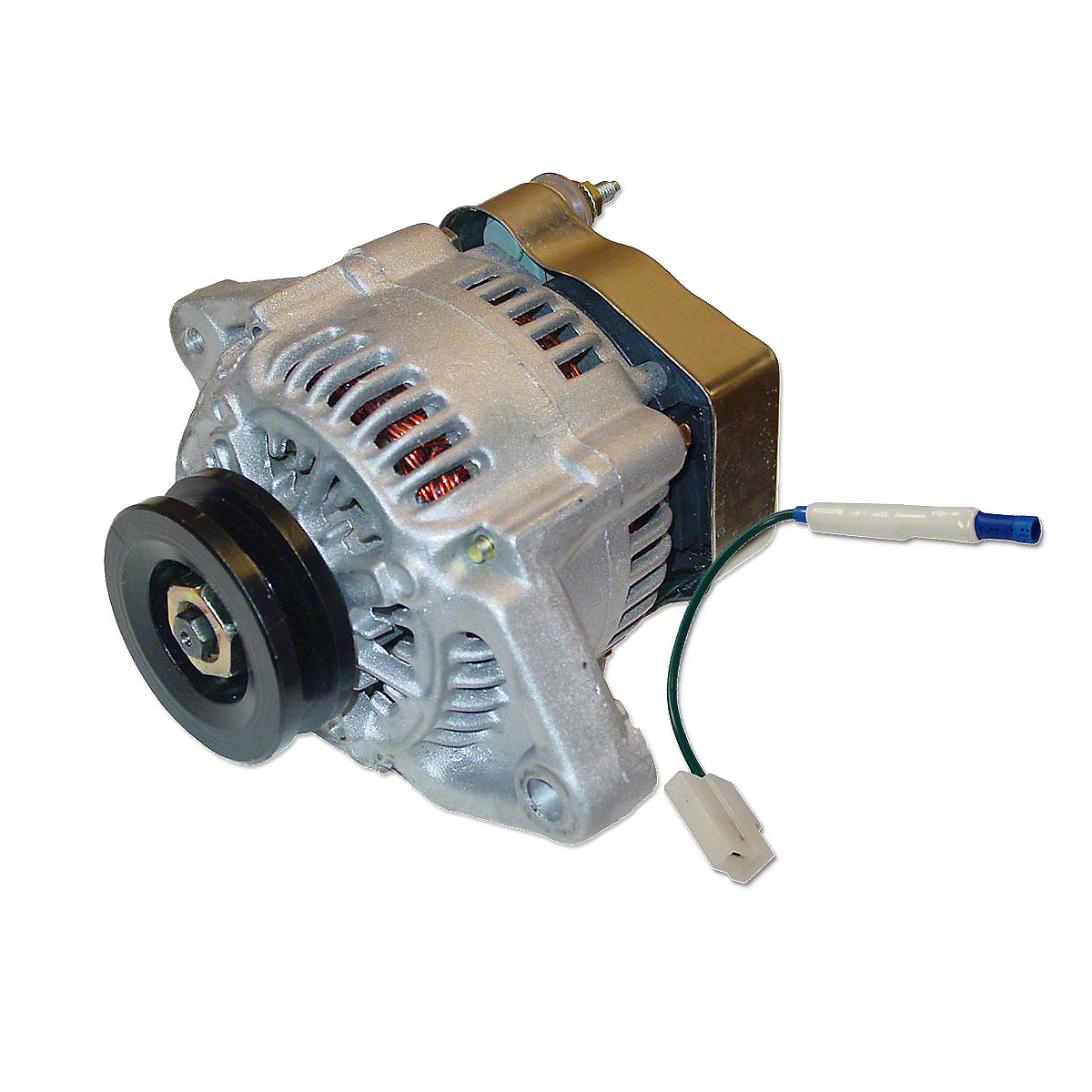 ABC535Mini 41 Max Amp 12 Volt  Alternator With Pulley And Diode