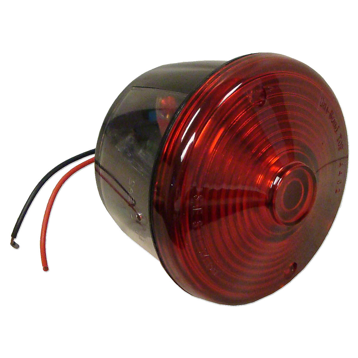 ABC548 12 Volt Round Red Tail Light Assembly With License Lamp Window