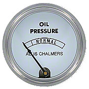 ACS262 - Oil Pressure Gauge, (0-80 PSI) With ALLIS CHALMERS Logo